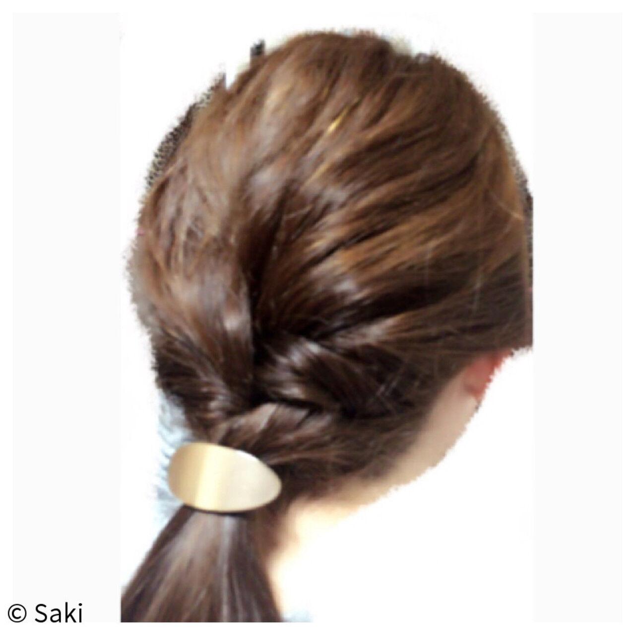 簡単ヘアアレンジ ヘアアレンジ ゆるふわ ナチュラルヘアスタイルや髪型の写真・画像