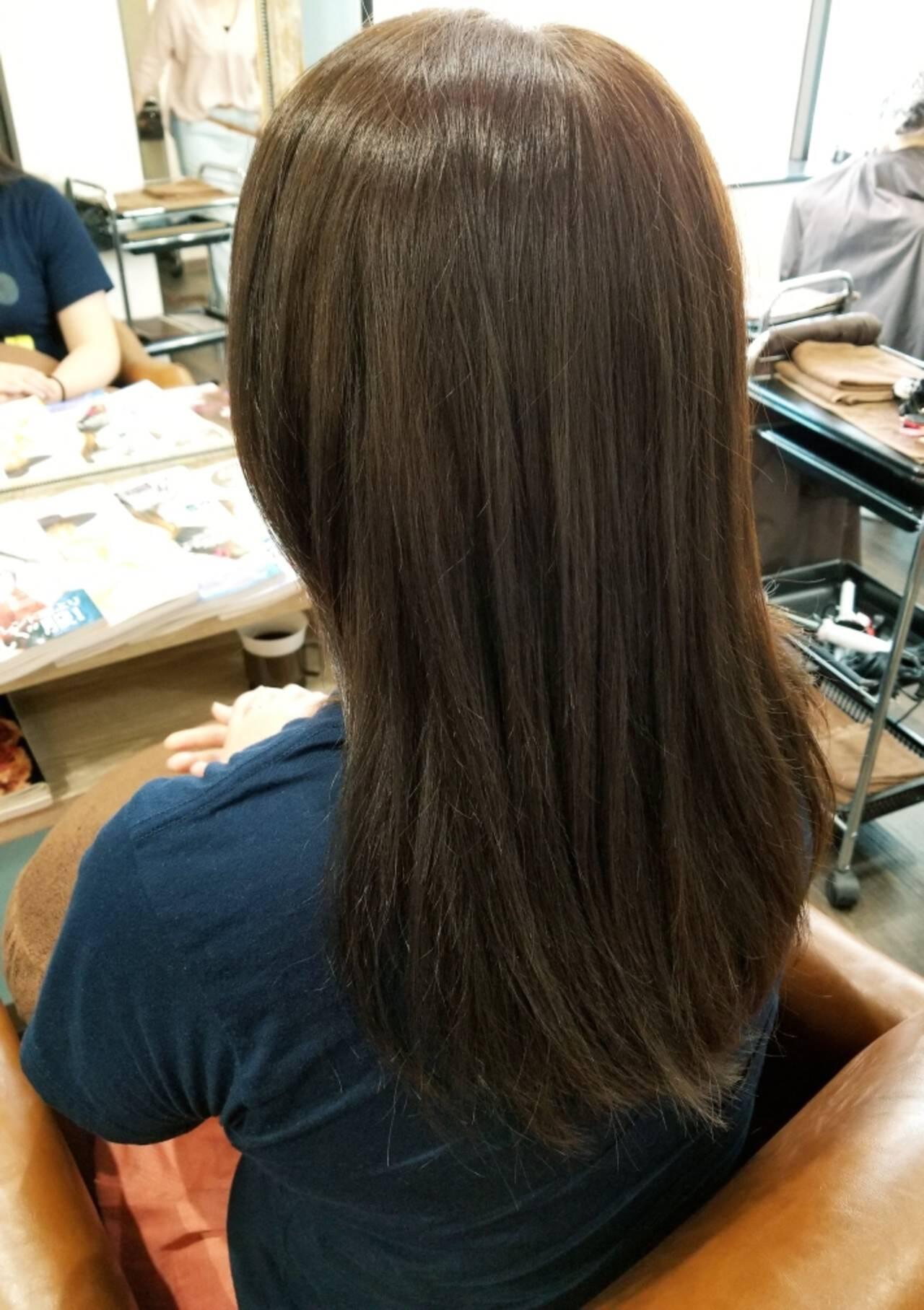 アッシュ トリートメント コンサバ 外国人風カラーヘアスタイルや髪型の写真・画像