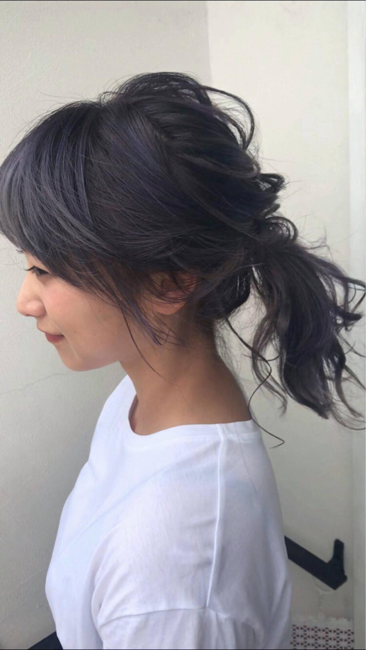夏 簡単ヘアアレンジ フェミニン ヘアアレンジヘアスタイルや髪型の写真・画像