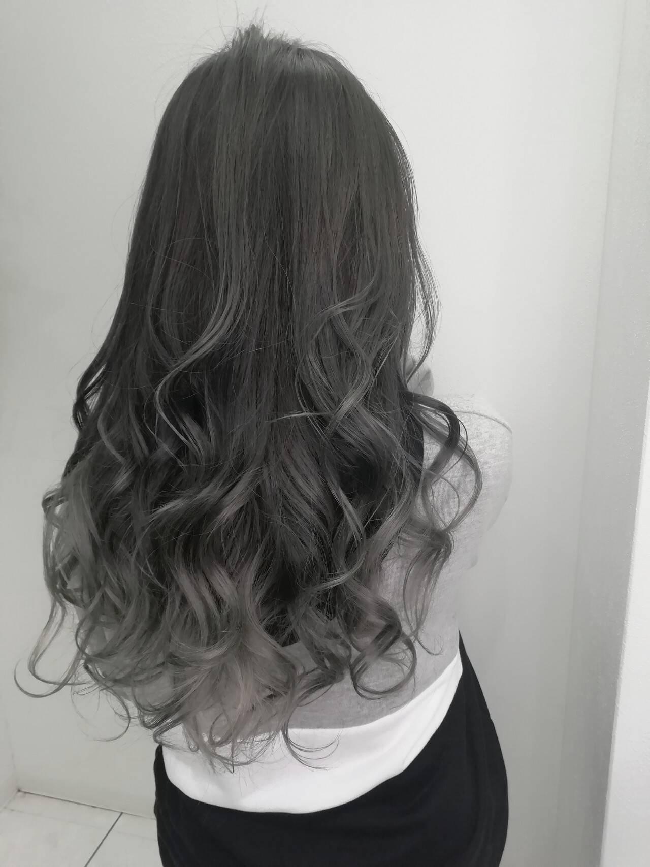 外国人風カラー ブルージュ グラデーションカラー ナチュラルヘアスタイルや髪型の写真・画像