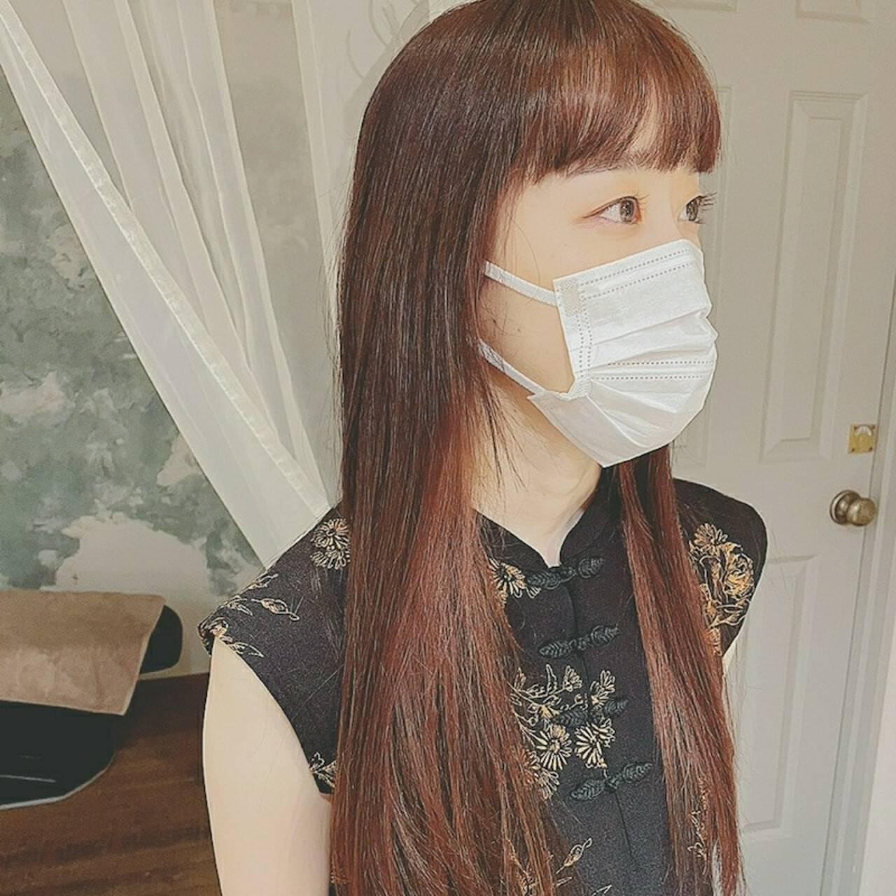 デートヘア 前髪あり ナチュラル 透明感ヘアスタイルや髪型の写真・画像