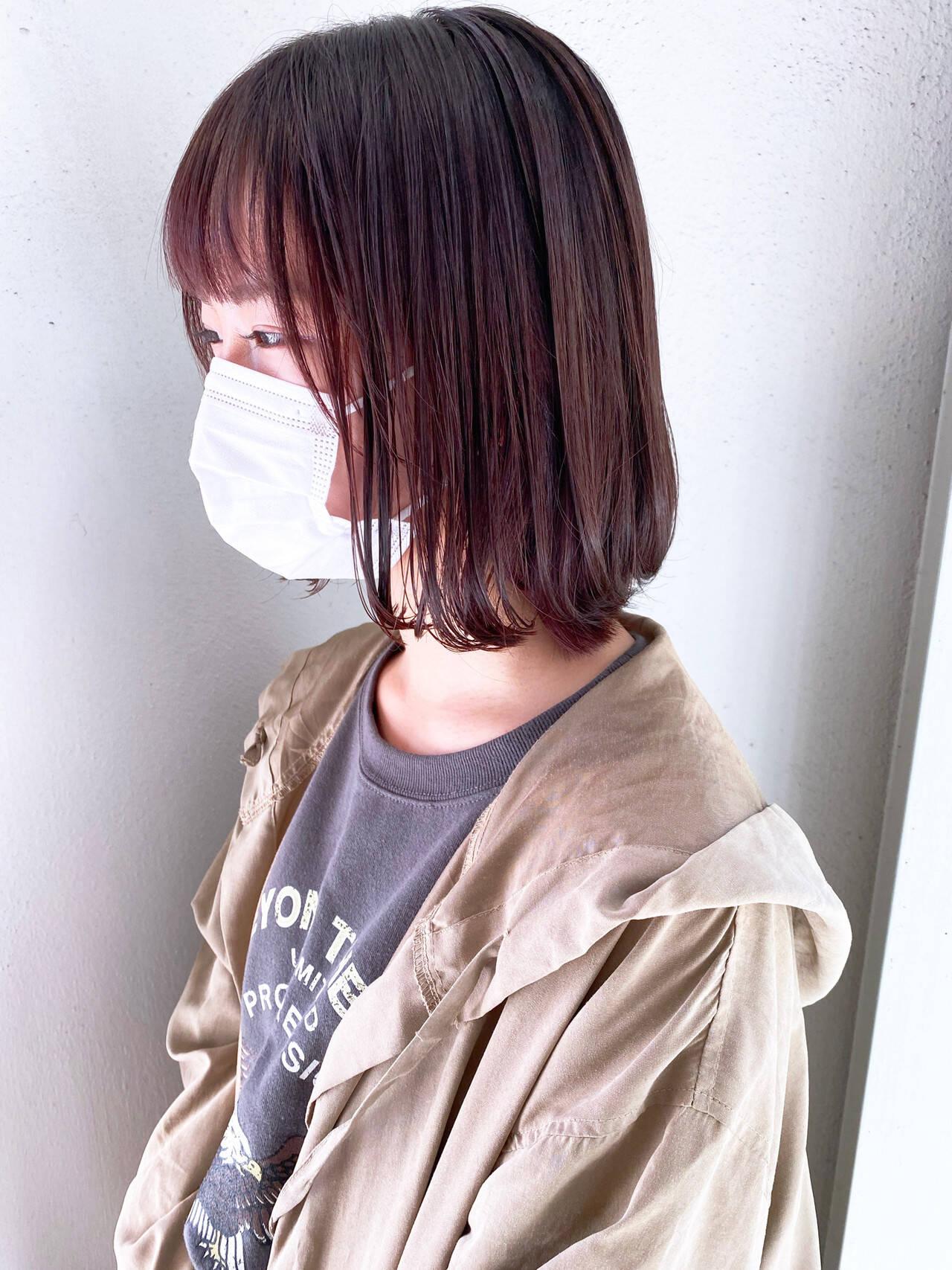 ショートヘア ミルクティーグレージュ ボブ ミニボブヘアスタイルや髪型の写真・画像