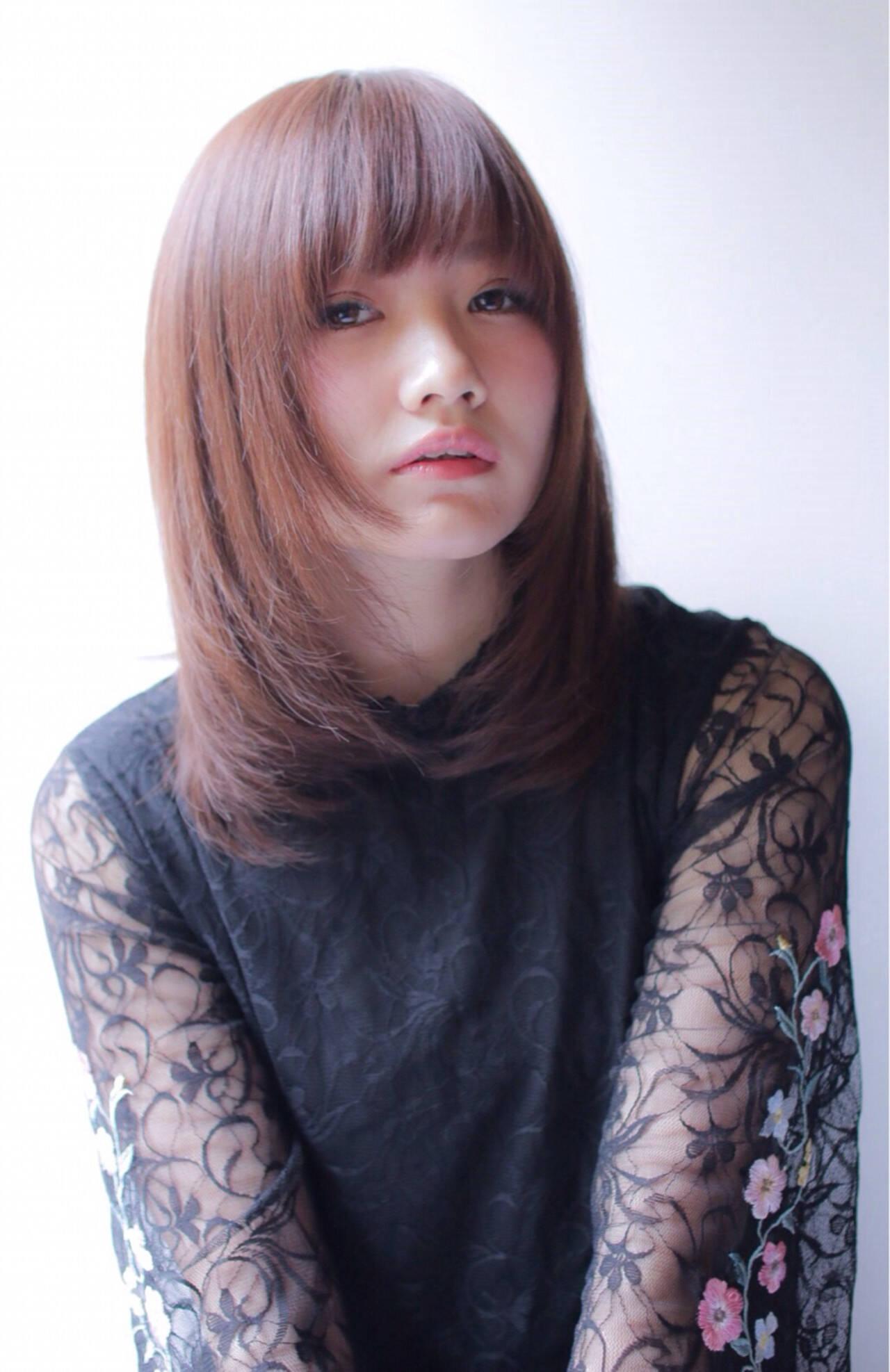 ミディアム こなれ感 デート 小顔ヘアスタイルや髪型の写真・画像