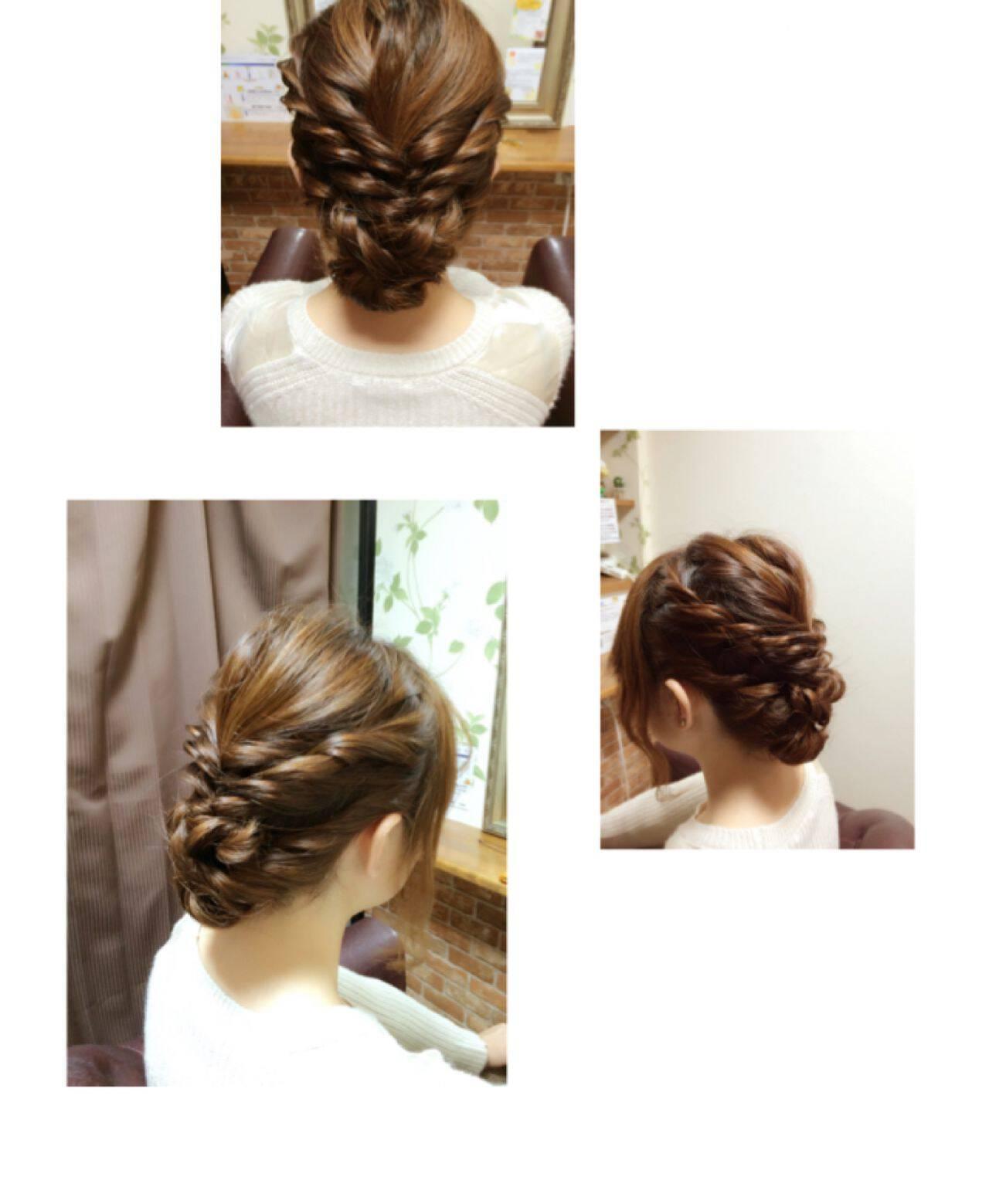 ナチュラル ロープ編み 大人かわいい ヘアアレンジヘアスタイルや髪型の写真・画像