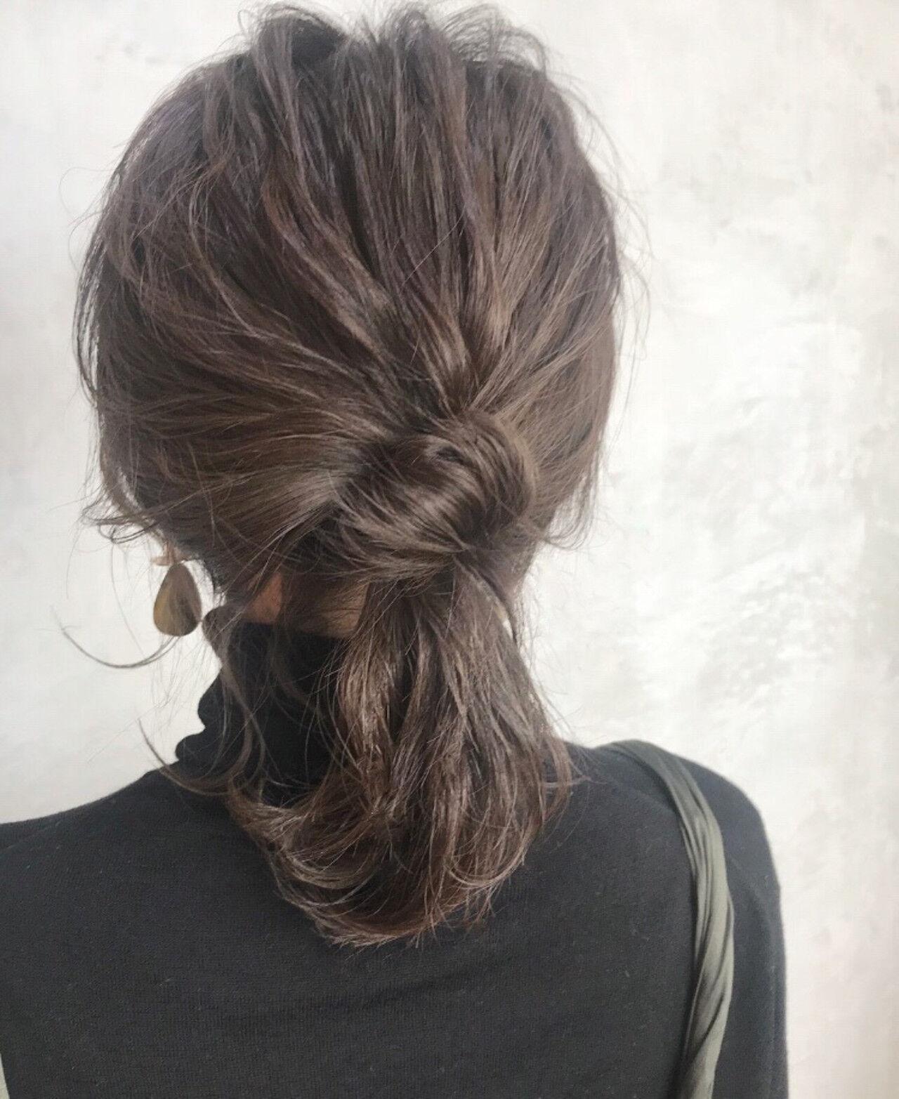 簡単ヘアアレンジ ミディアム 結婚式 アンニュイほつれヘアヘアスタイルや髪型の写真・画像