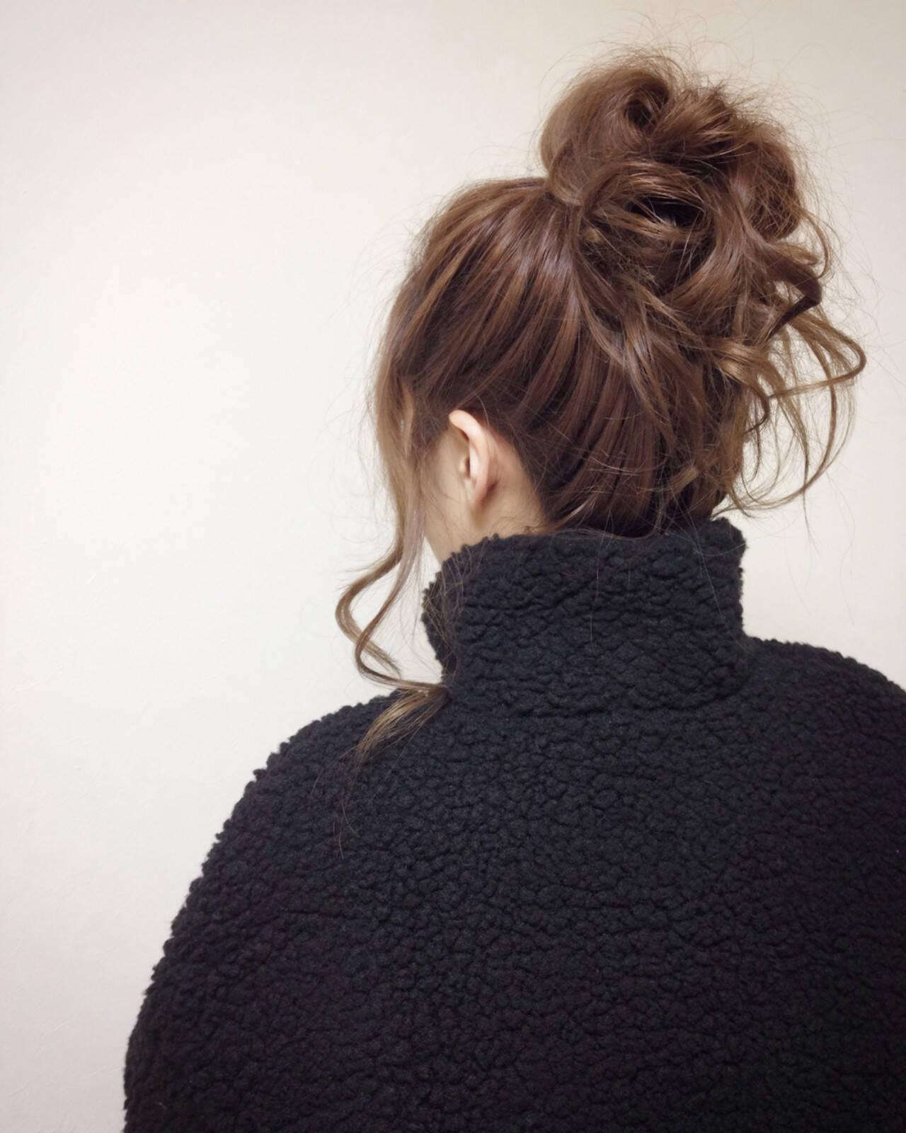 愛され ヘアアレンジ ガーリー フェミニンヘアスタイルや髪型の写真・画像