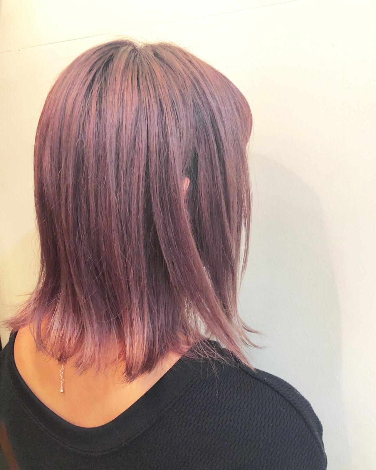 ストリート ボブ グラデーションカラー バレイヤージュヘアスタイルや髪型の写真・画像