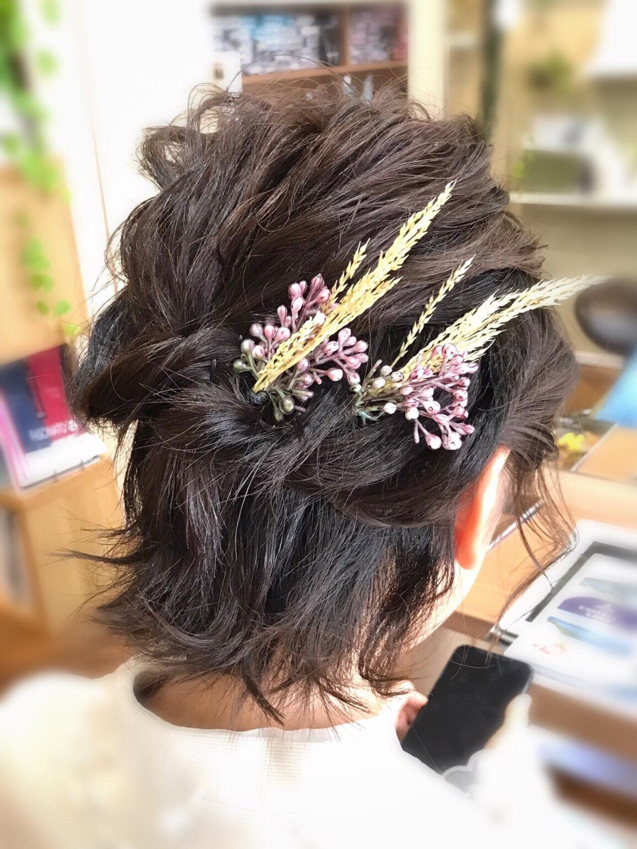 結婚式髪型 ヘアアレンジ ナチュラル 結婚式ヘアスタイルや髪型の写真・画像