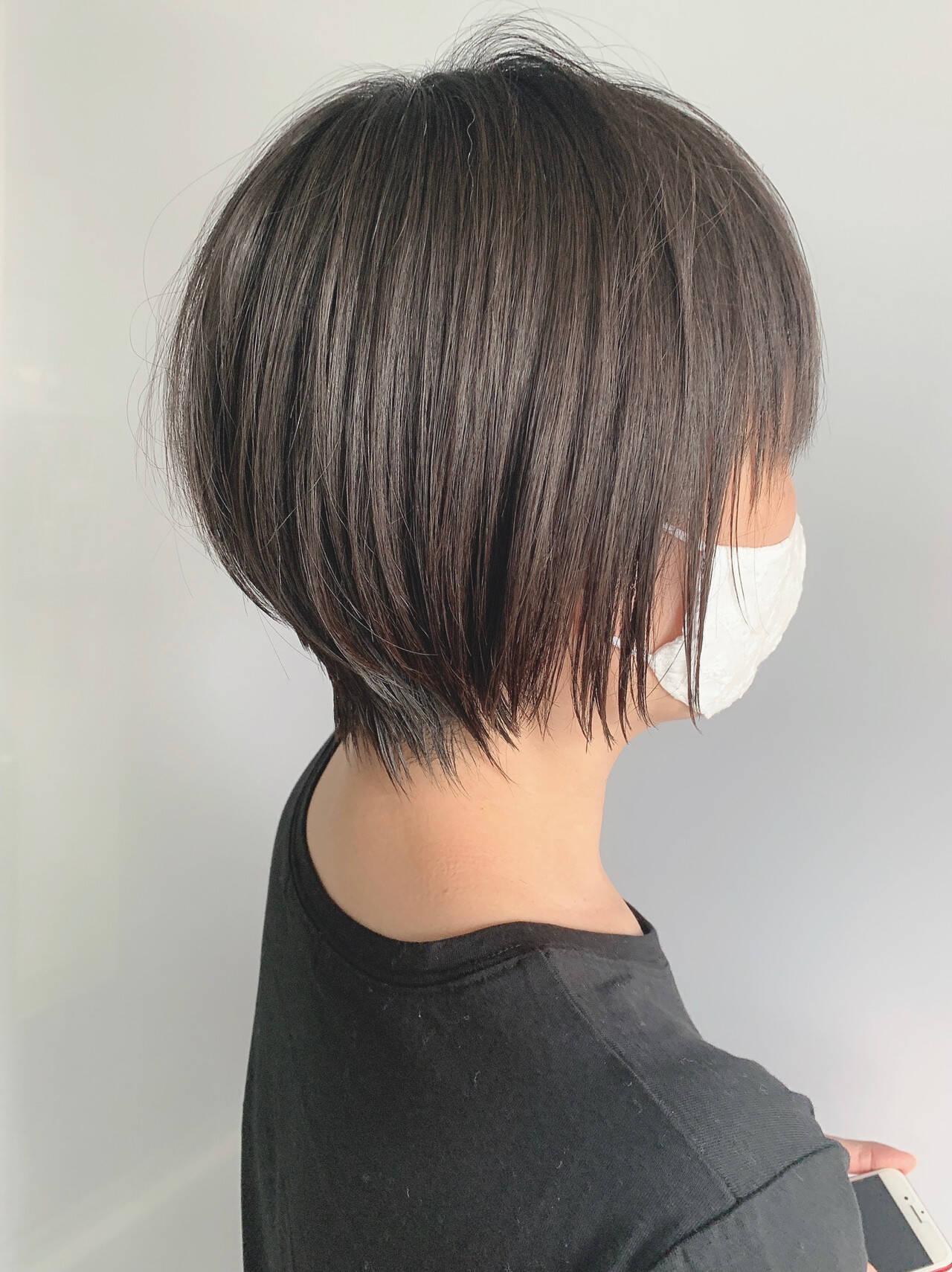 ベリーショート ショートヘア 黒髪 ショートヘアスタイルや髪型の写真・画像