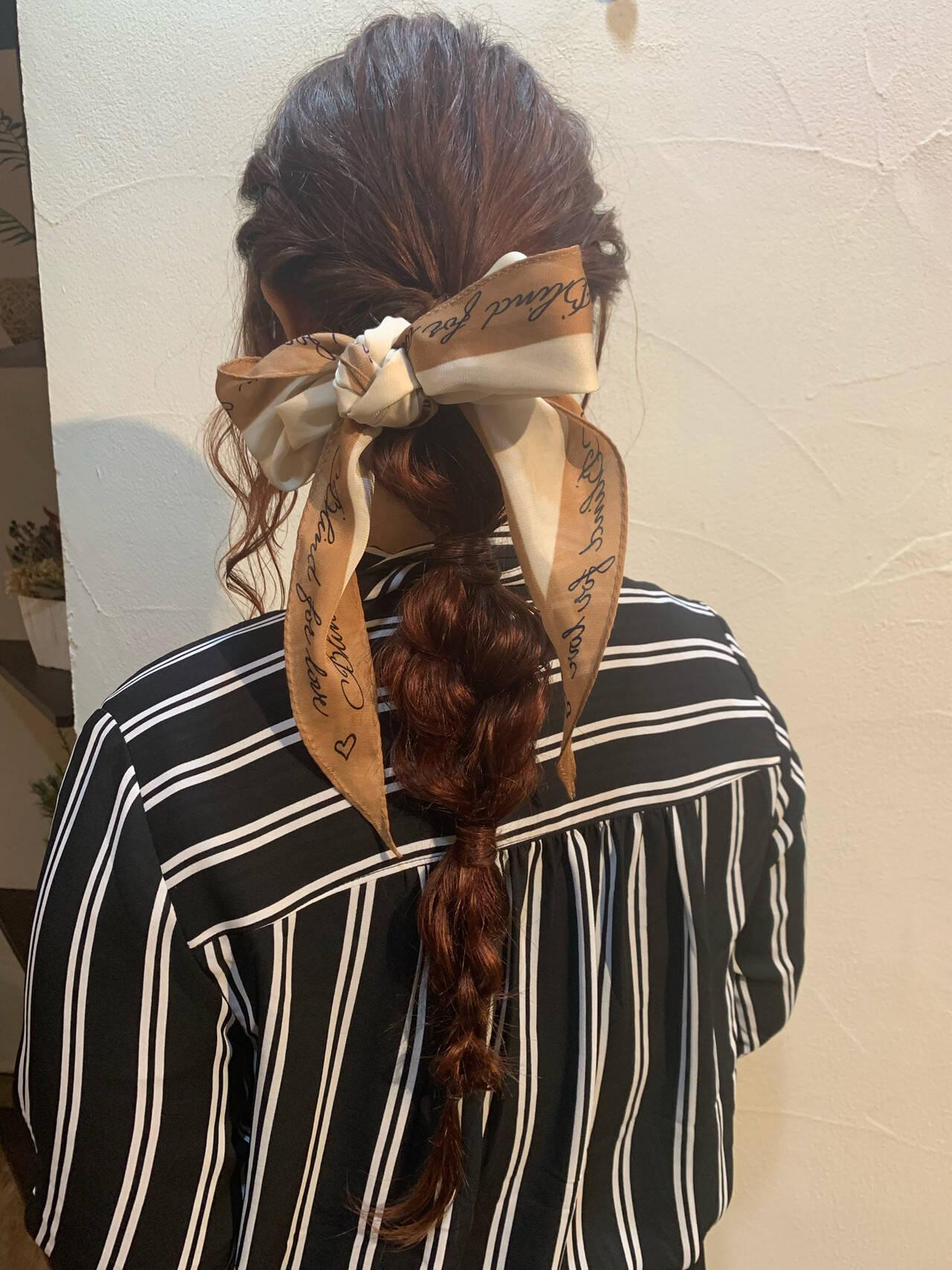 簡単ヘアアレンジ 編みおろしヘア ナチュラル ヘアアレンジヘアスタイルや髪型の写真・画像