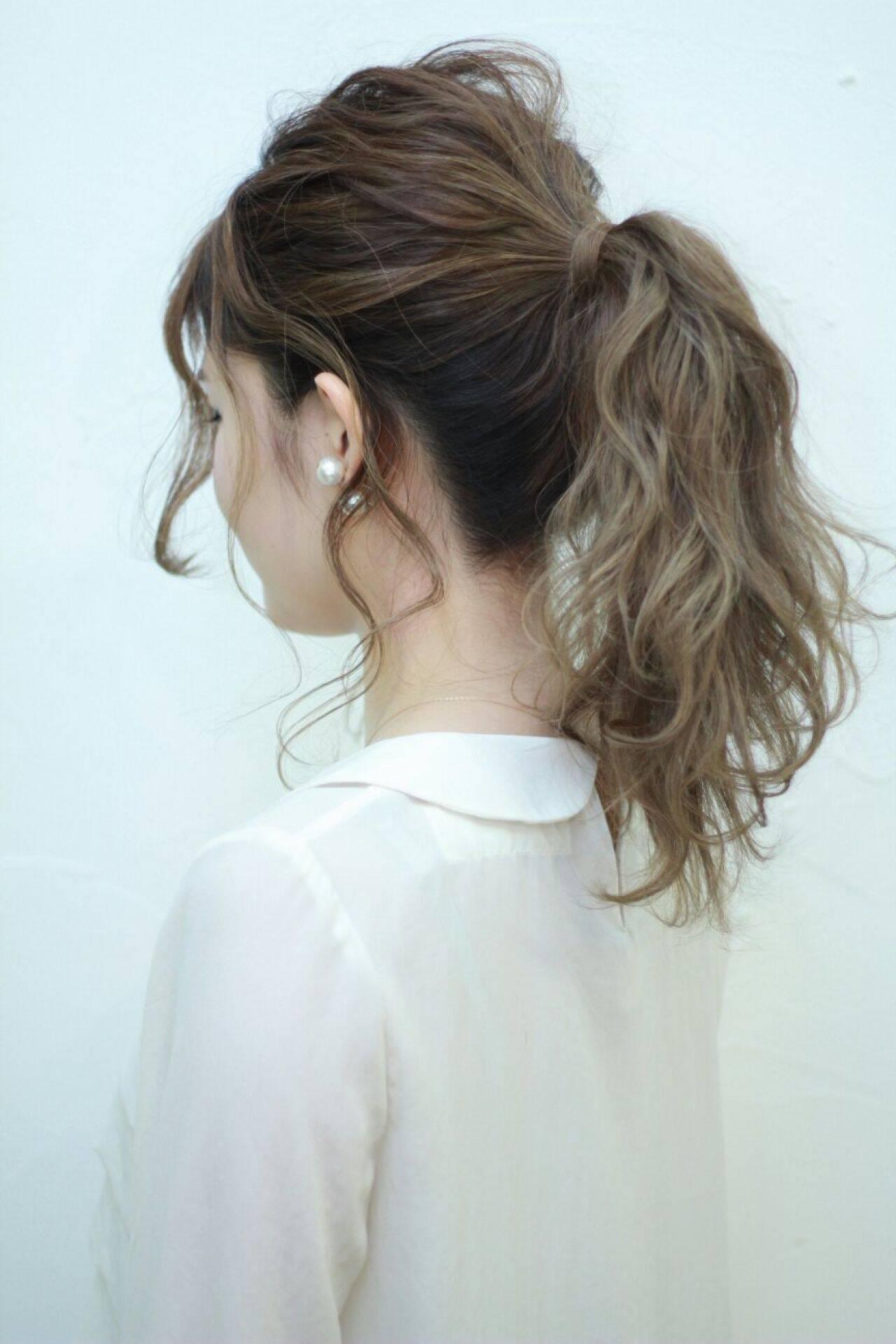ストリート 外国人風 グラデーションカラー ナチュラルヘアスタイルや髪型の写真・画像