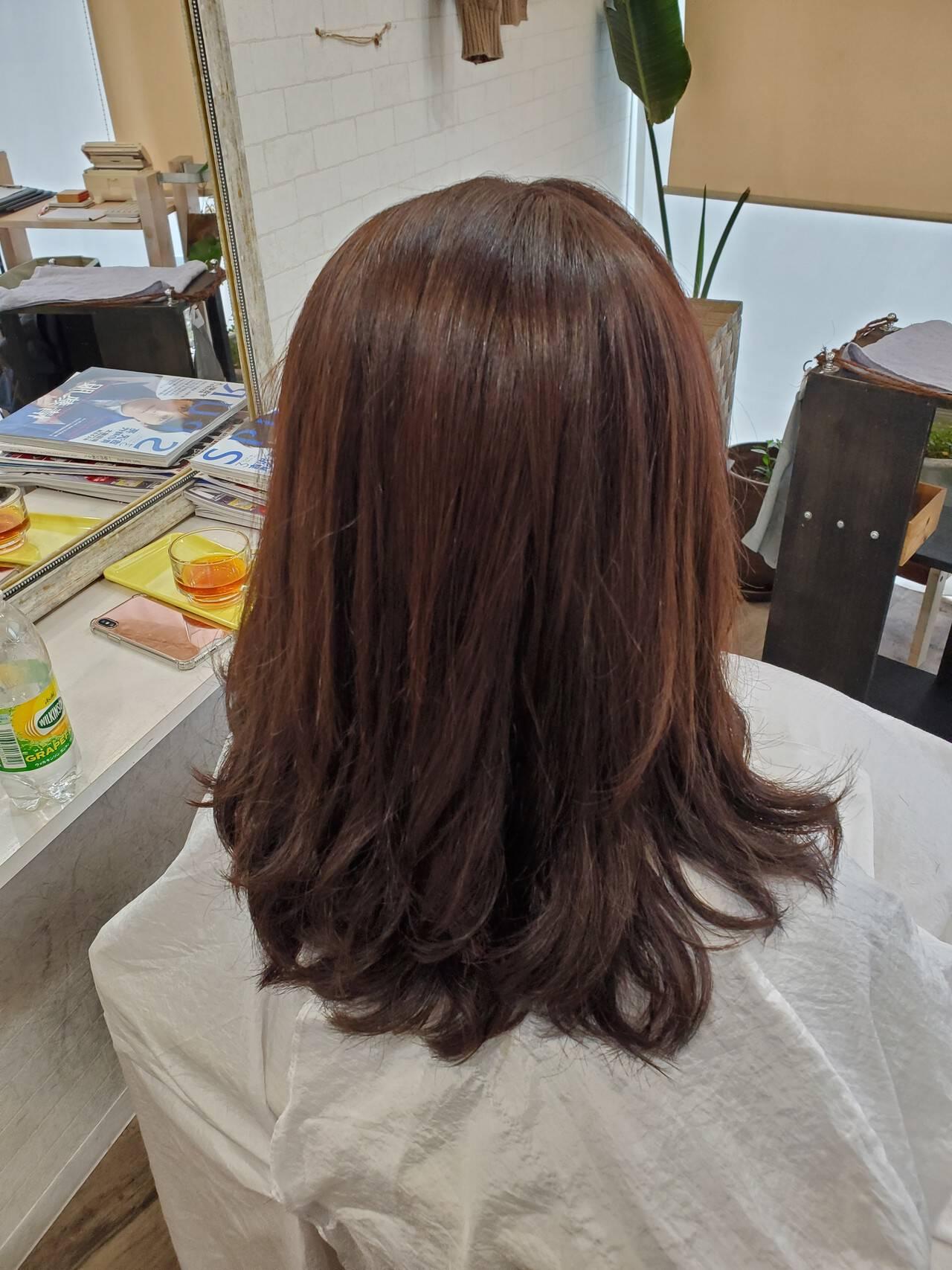 縮毛矯正名古屋市 デジタルパーマ 艶髪 フェミニンヘアスタイルや髪型の写真・画像