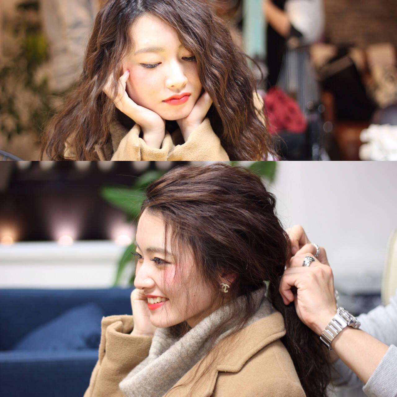 フェミニン セミロング ロブ コンサバヘアスタイルや髪型の写真・画像