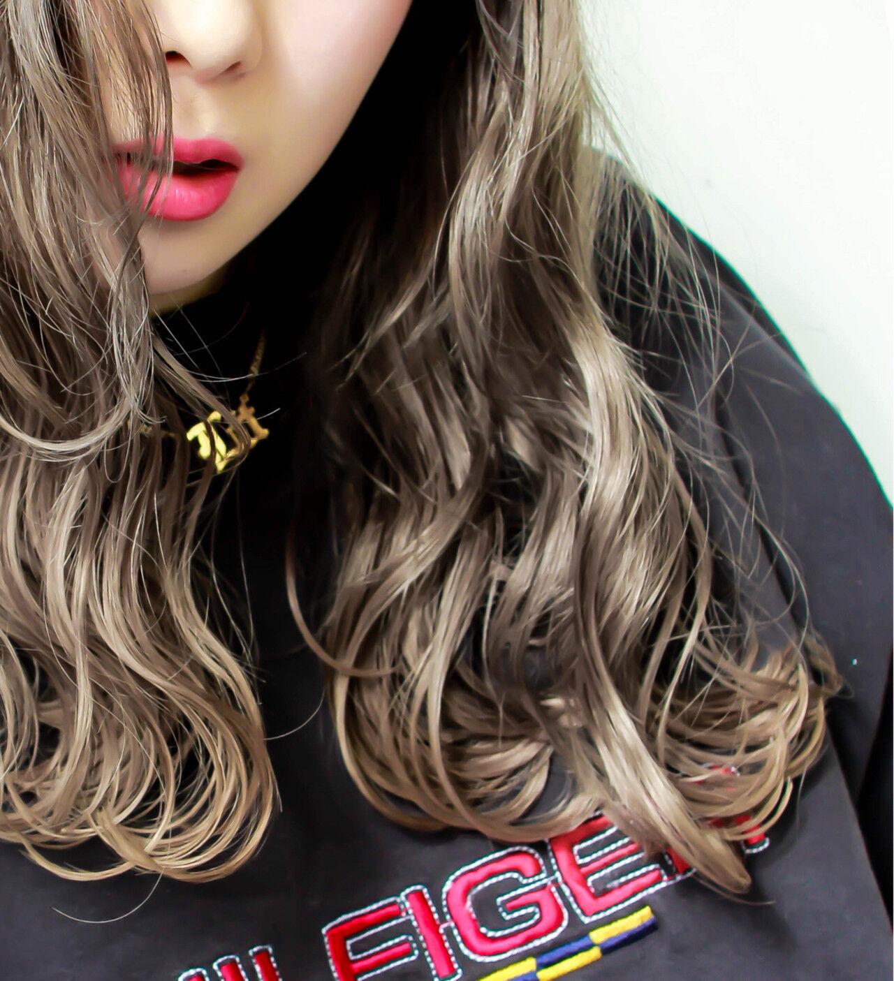 外国人風 ストリート 外国人風カラー グレージュヘアスタイルや髪型の写真・画像
