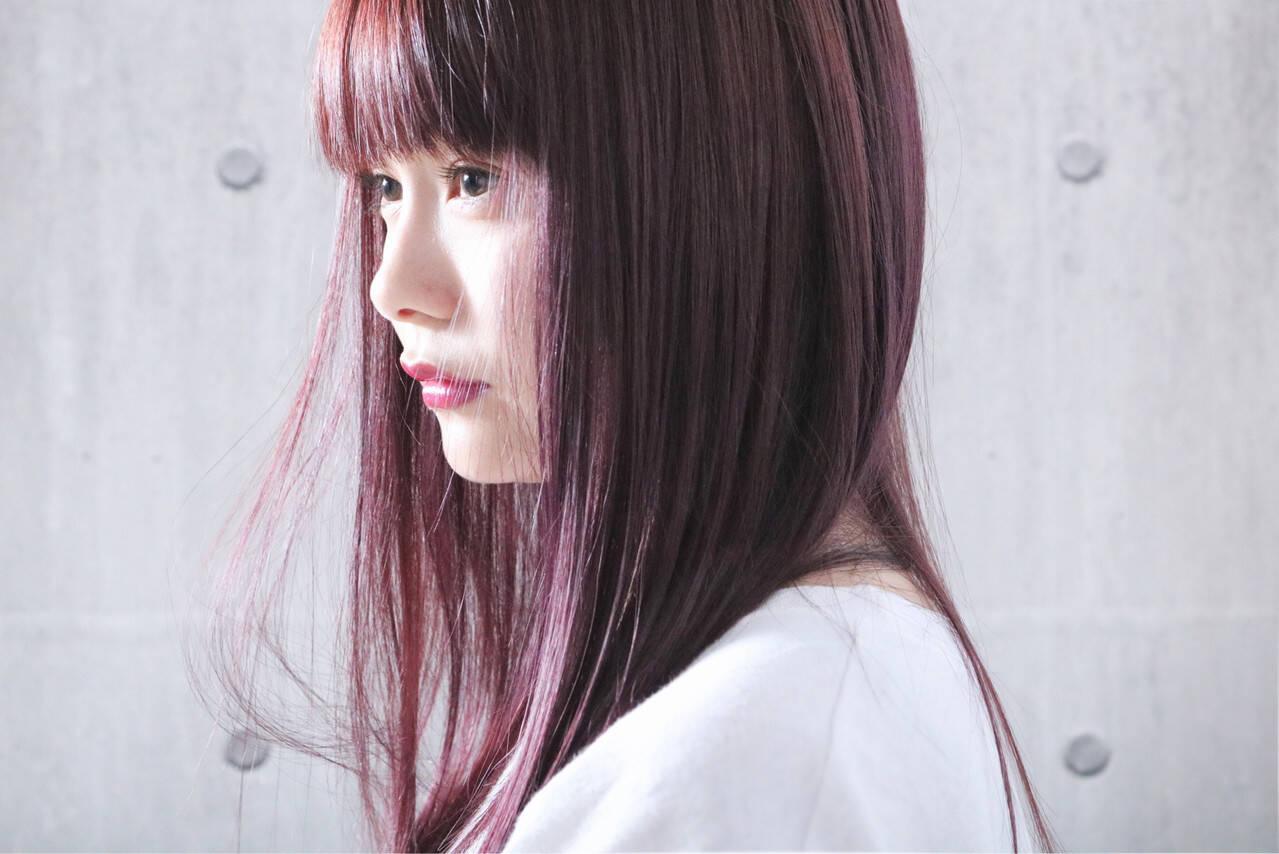 ピンクパープル ピンクアッシュ ピンクラベンダー ナチュラルヘアスタイルや髪型の写真・画像