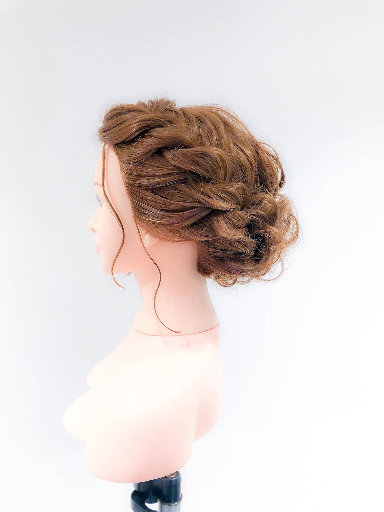 ヘアセット ロング 成人式ヘア アップスタイルヘアスタイルや髪型の写真・画像