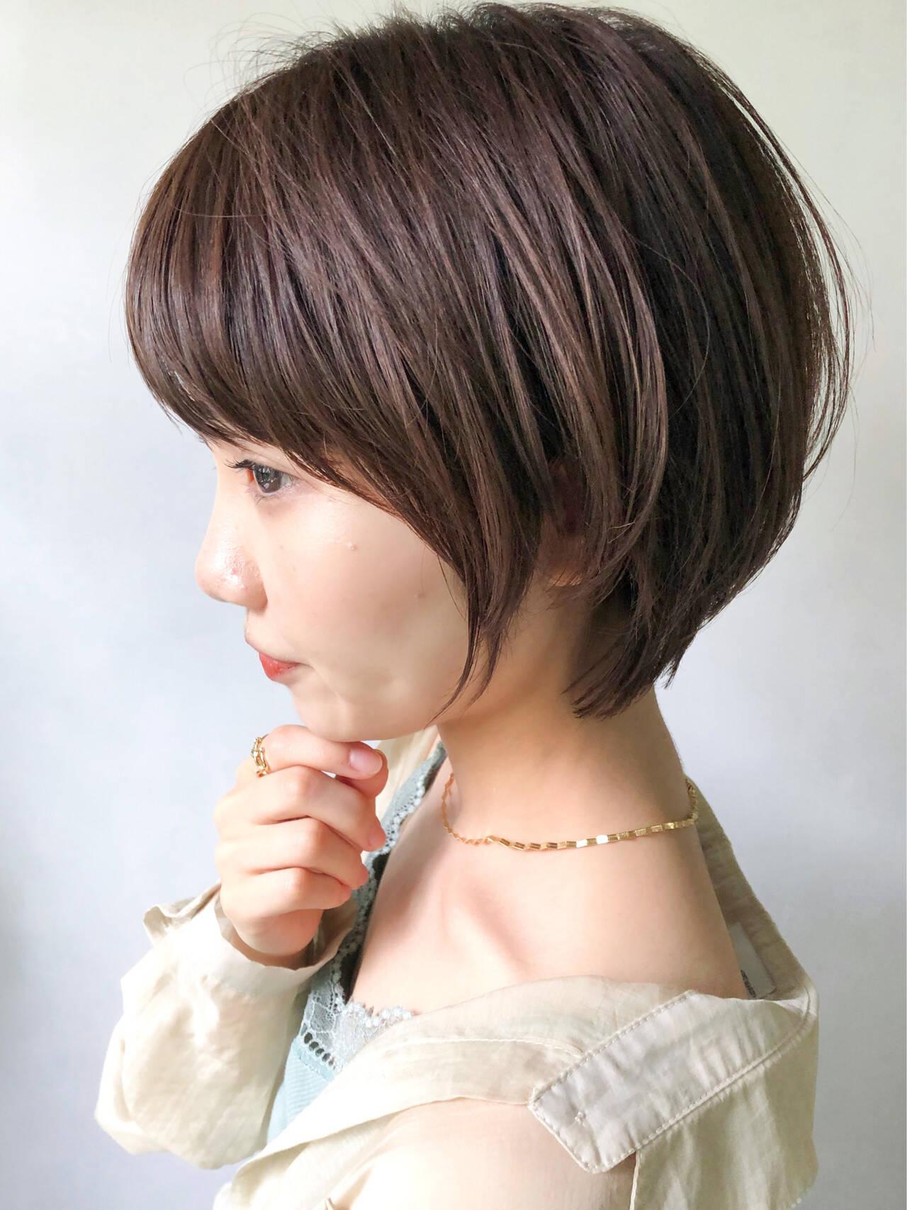 ショート ショートボブ マッシュショート アンニュイほつれヘアヘアスタイルや髪型の写真・画像