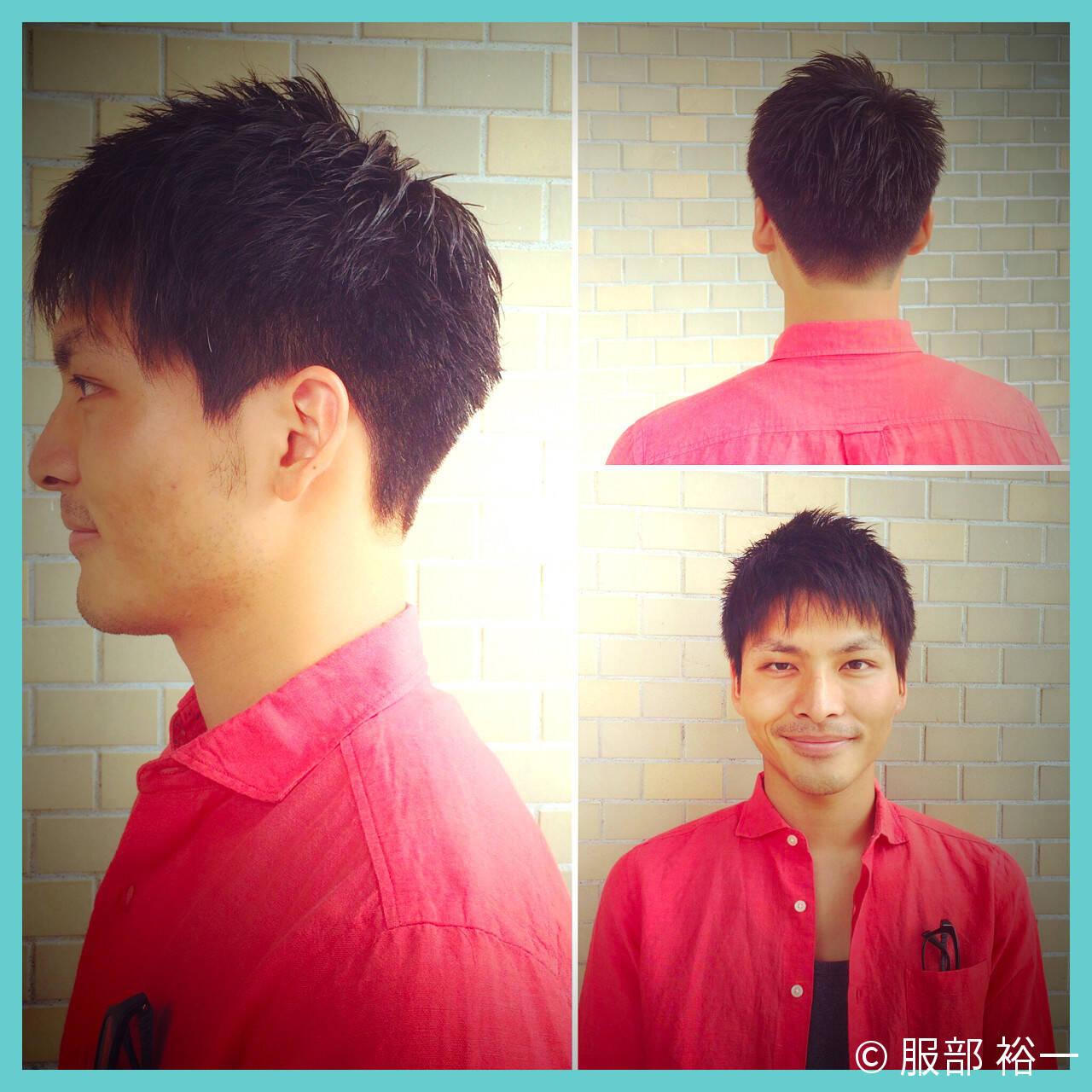 刈り上げ 黒髪 ショート メンズヘアスタイルや髪型の写真・画像