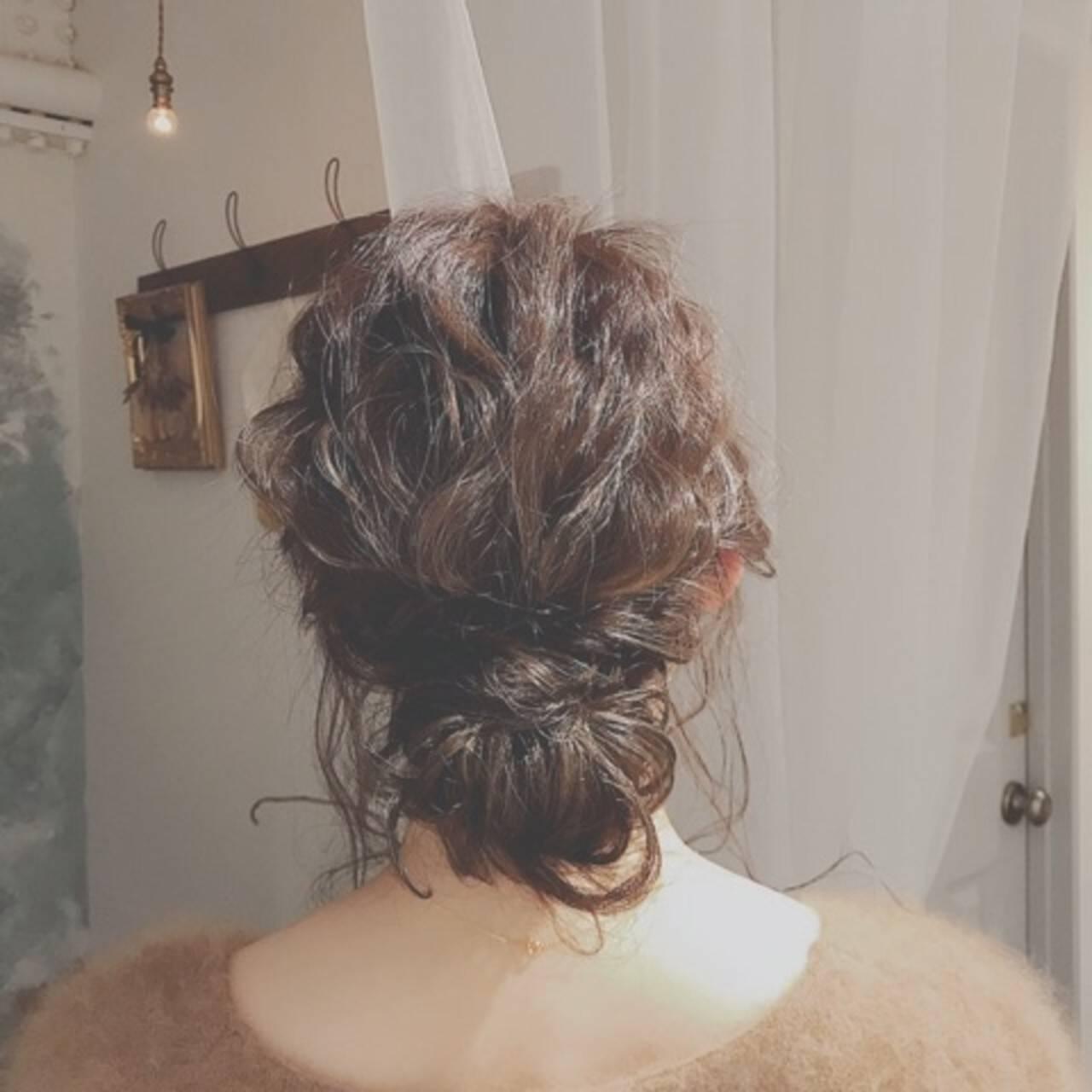 デート ロング パーティ ヘアアレンジヘアスタイルや髪型の写真・画像