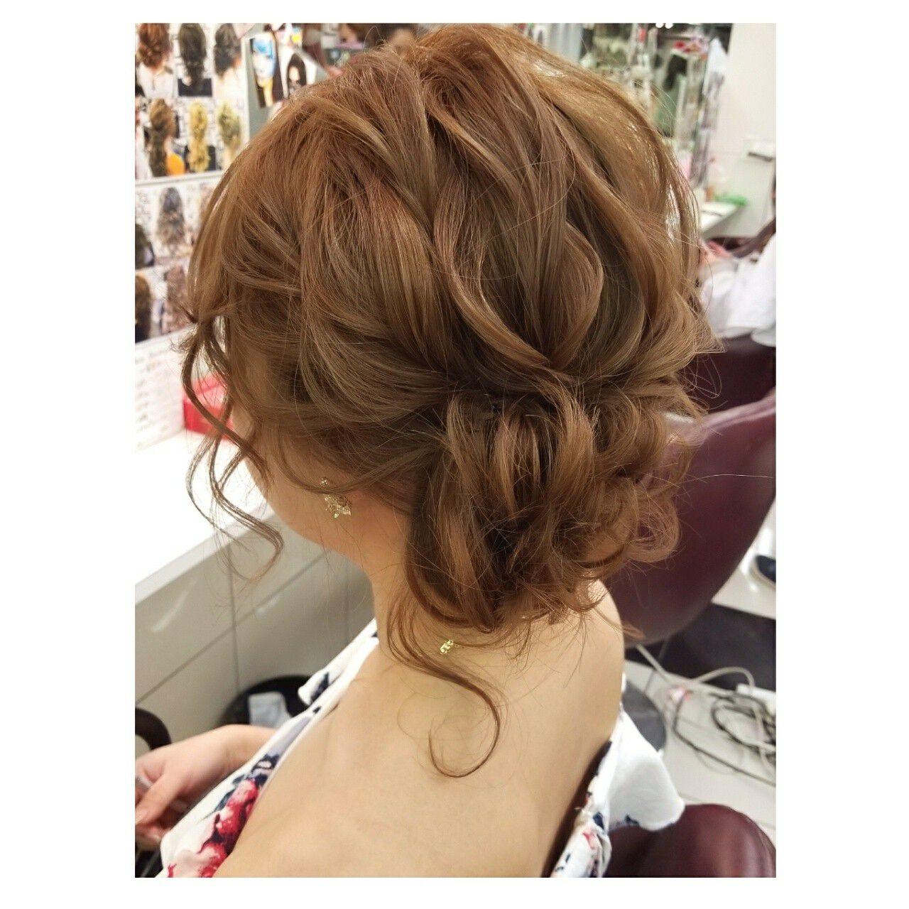 エレガント デート 結婚式 ヘアアレンジヘアスタイルや髪型の写真・画像