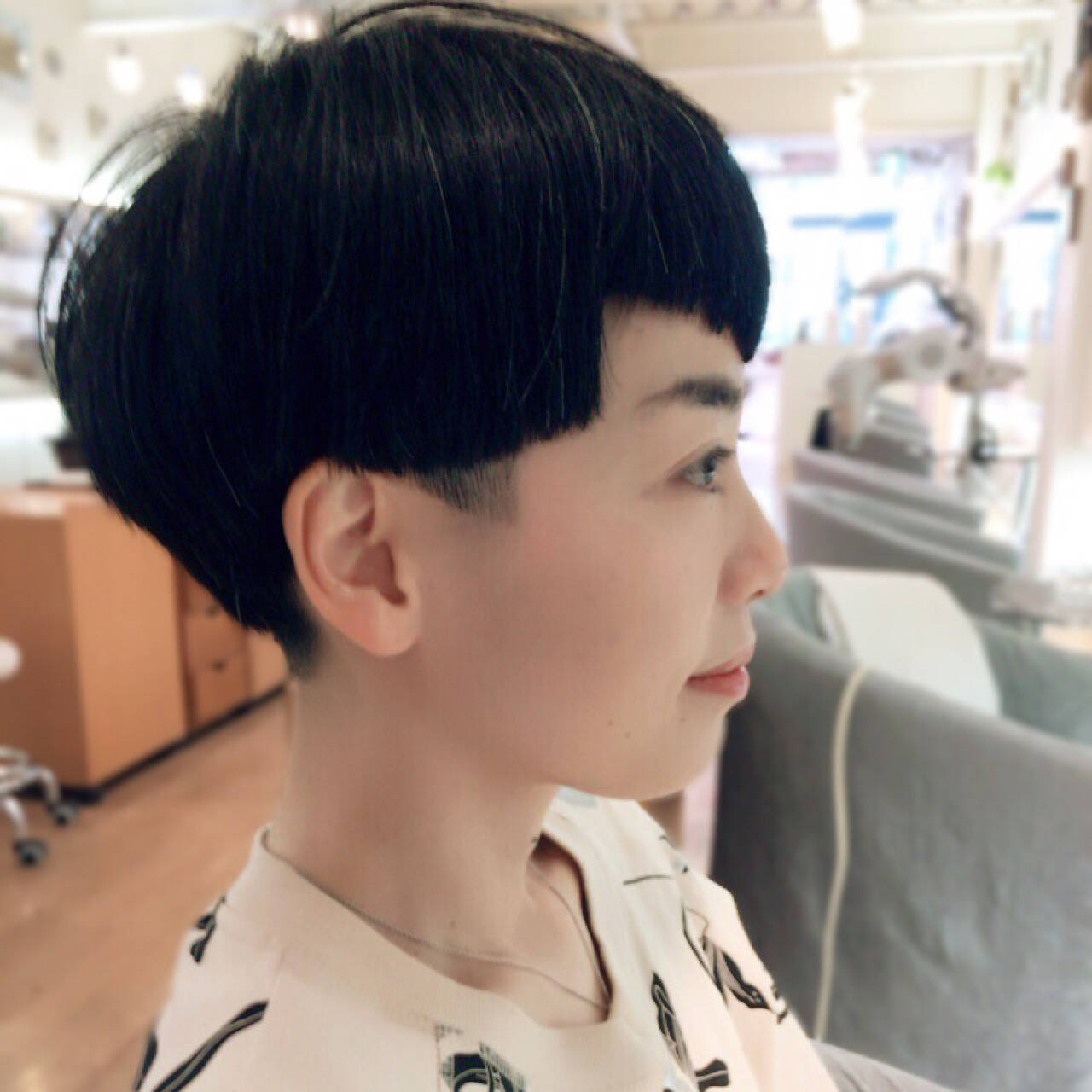 刈り上げ 坊主 モード ショートヘアスタイルや髪型の写真・画像