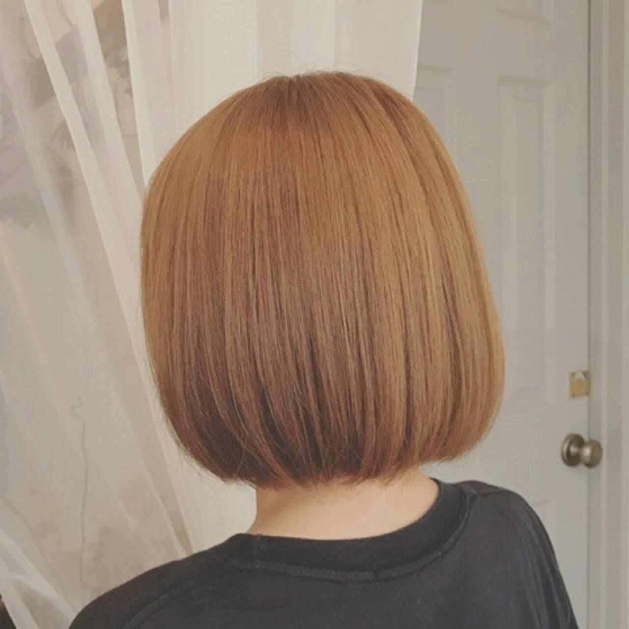 ボブ 秋 フェミニン 冬ヘアスタイルや髪型の写真・画像
