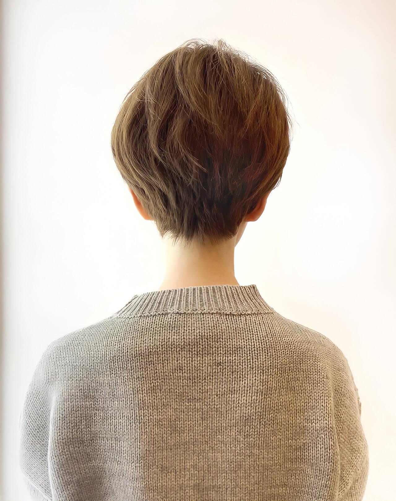ショート ナチュラル ベリーショート 大人ショートヘアスタイルや髪型の写真・画像