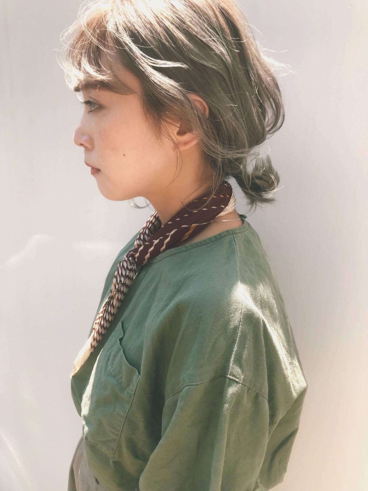 簡単ヘアアレンジ ヘアアレンジ ナチュラル ミディアムヘアスタイルや髪型の写真・画像