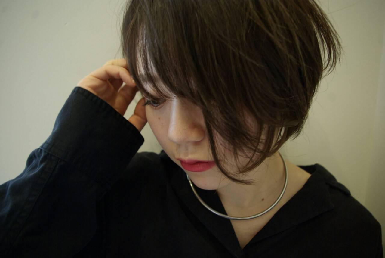 ナチュラル 色気 ショート 大人かわいいヘアスタイルや髪型の写真・画像