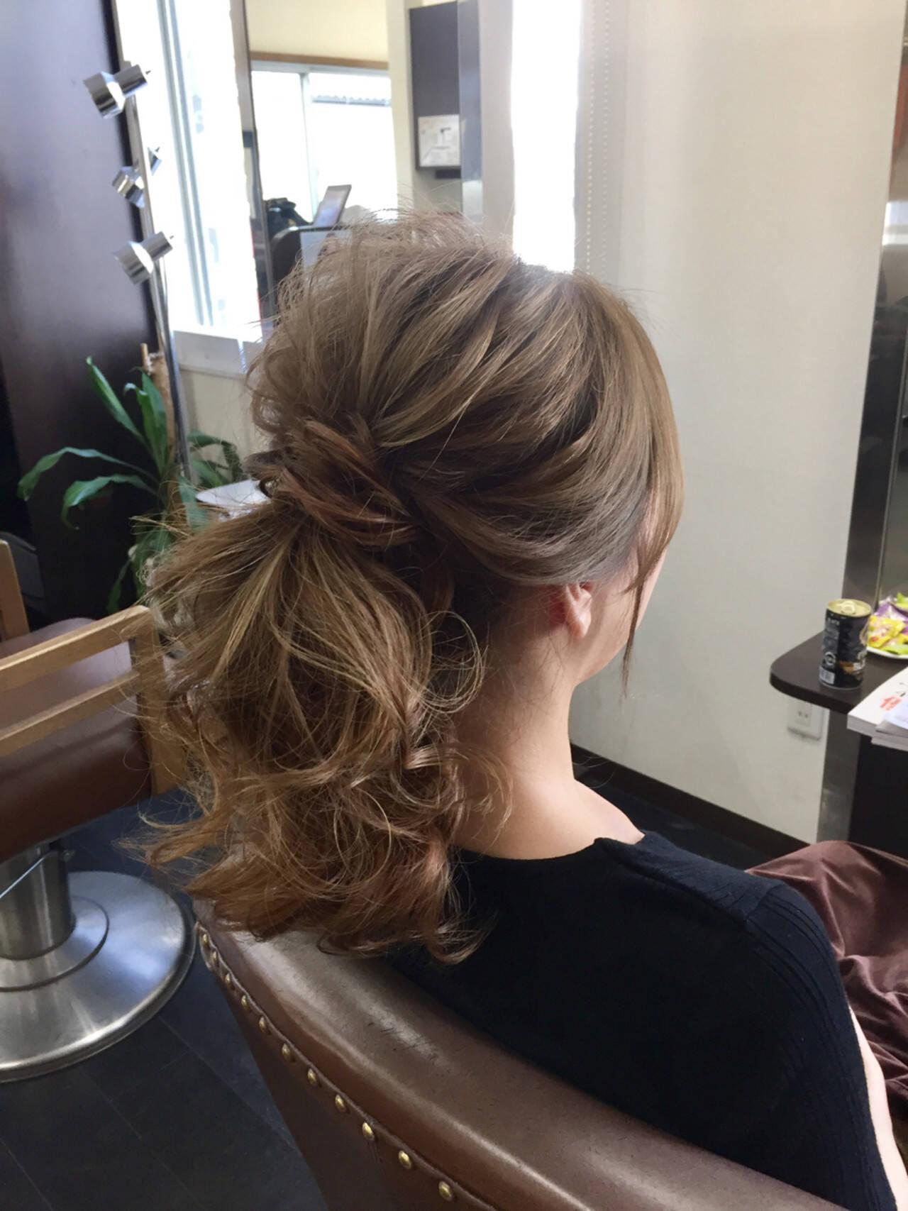 ポニーテール 結婚式 上品 デートヘアスタイルや髪型の写真・画像