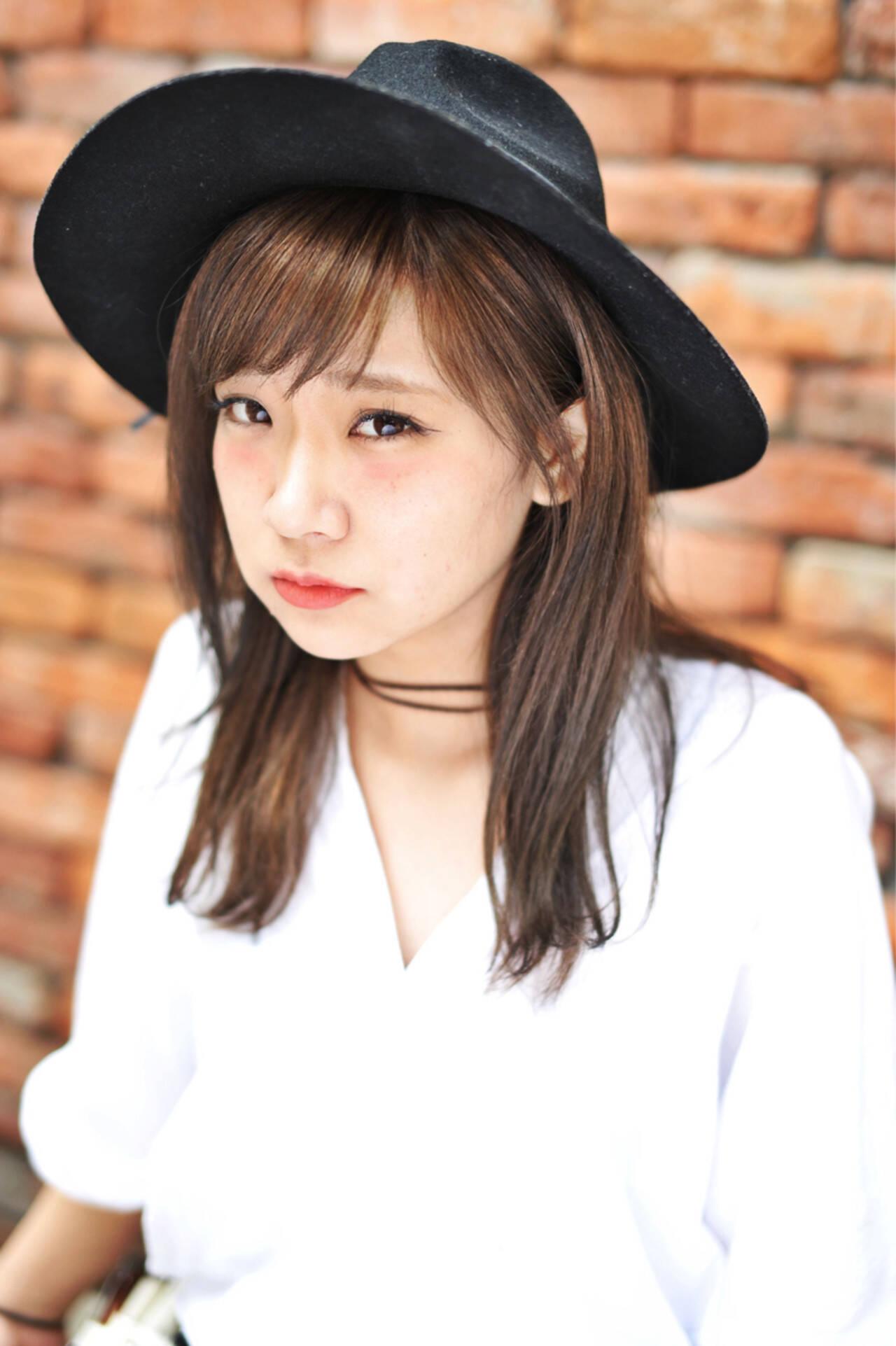 簡単ヘアアレンジ 色気 暗髪 ストリートヘアスタイルや髪型の写真・画像