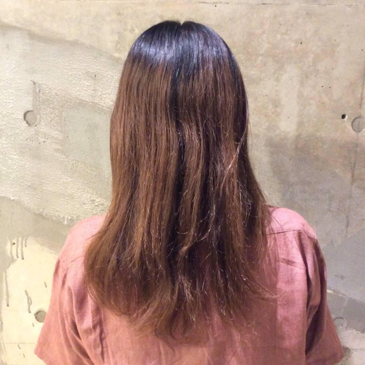 暗髪 大人かわいい ナチュラル 韓国ヘアスタイルや髪型の写真・画像