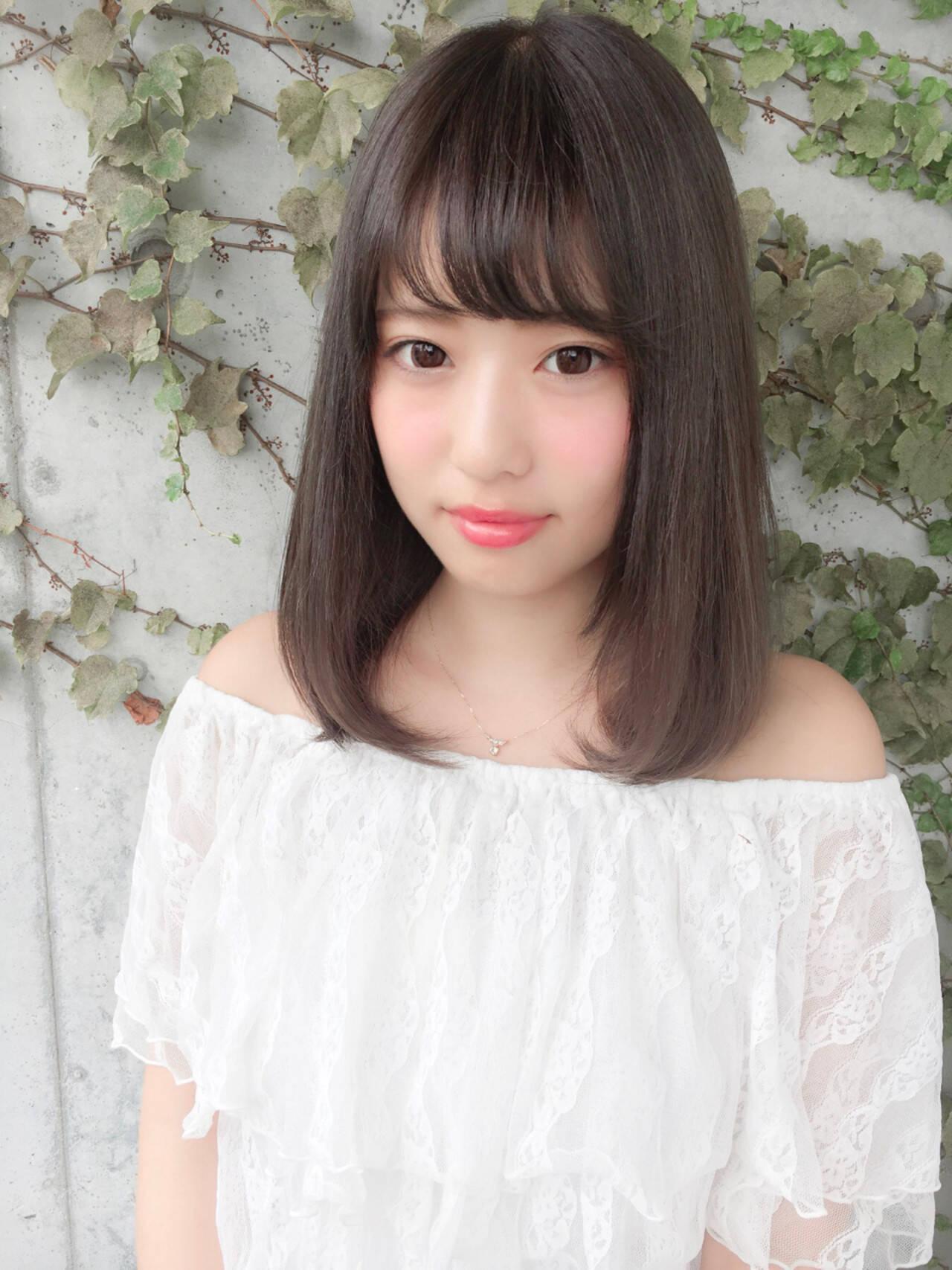 秋 女子会 デート 透明感ヘアスタイルや髪型の写真・画像