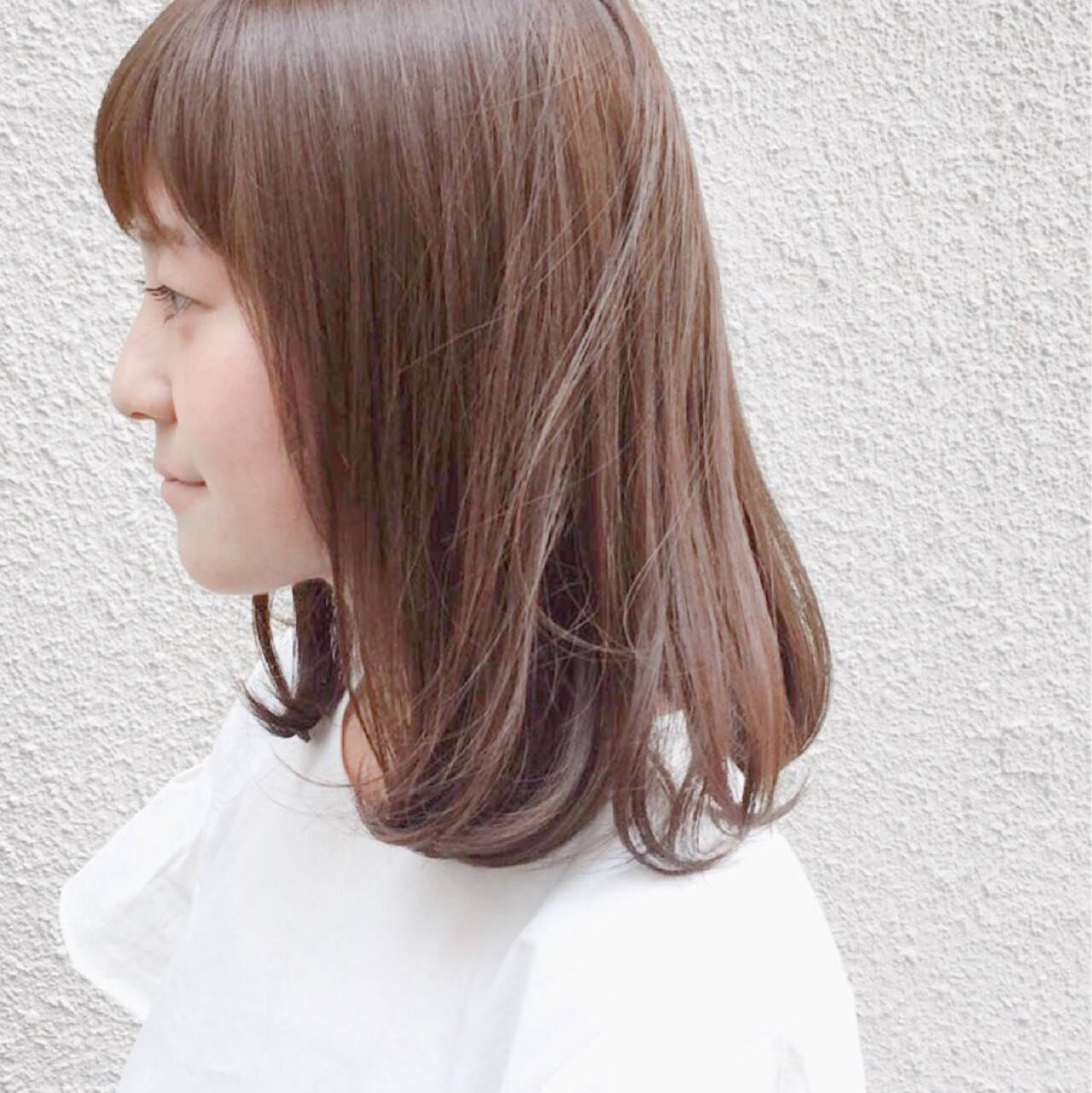 艶髪 ミディアム ナチュラル 透明感ヘアスタイルや髪型の写真・画像