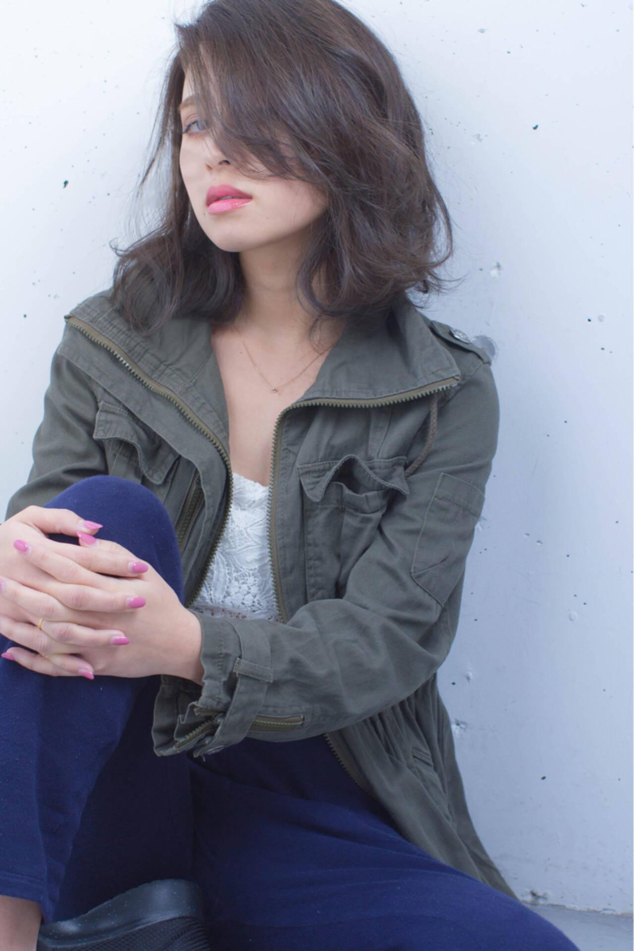 外国人風 大人女子 ボブ ミディアムヘアスタイルや髪型の写真・画像