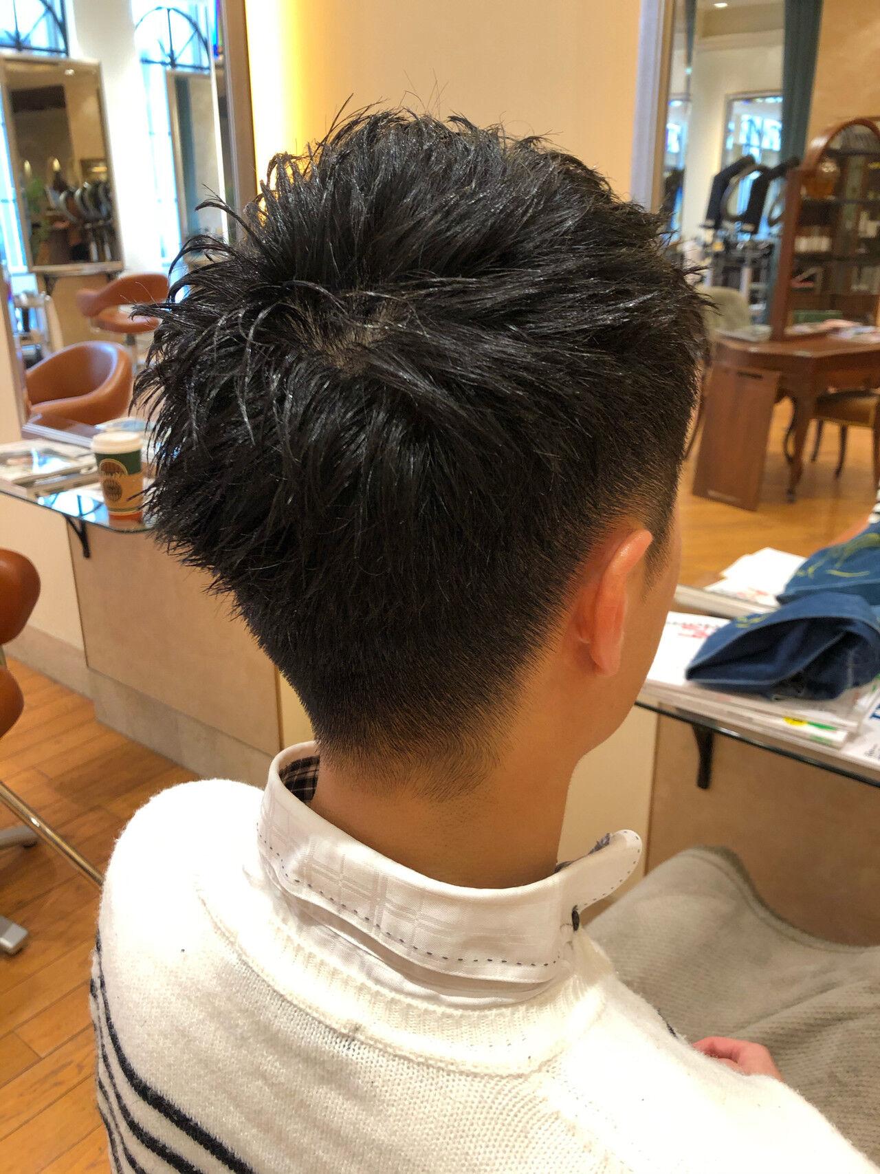爽やか 黒髪 ナチュラル シンプルヘアスタイルや髪型の写真・画像