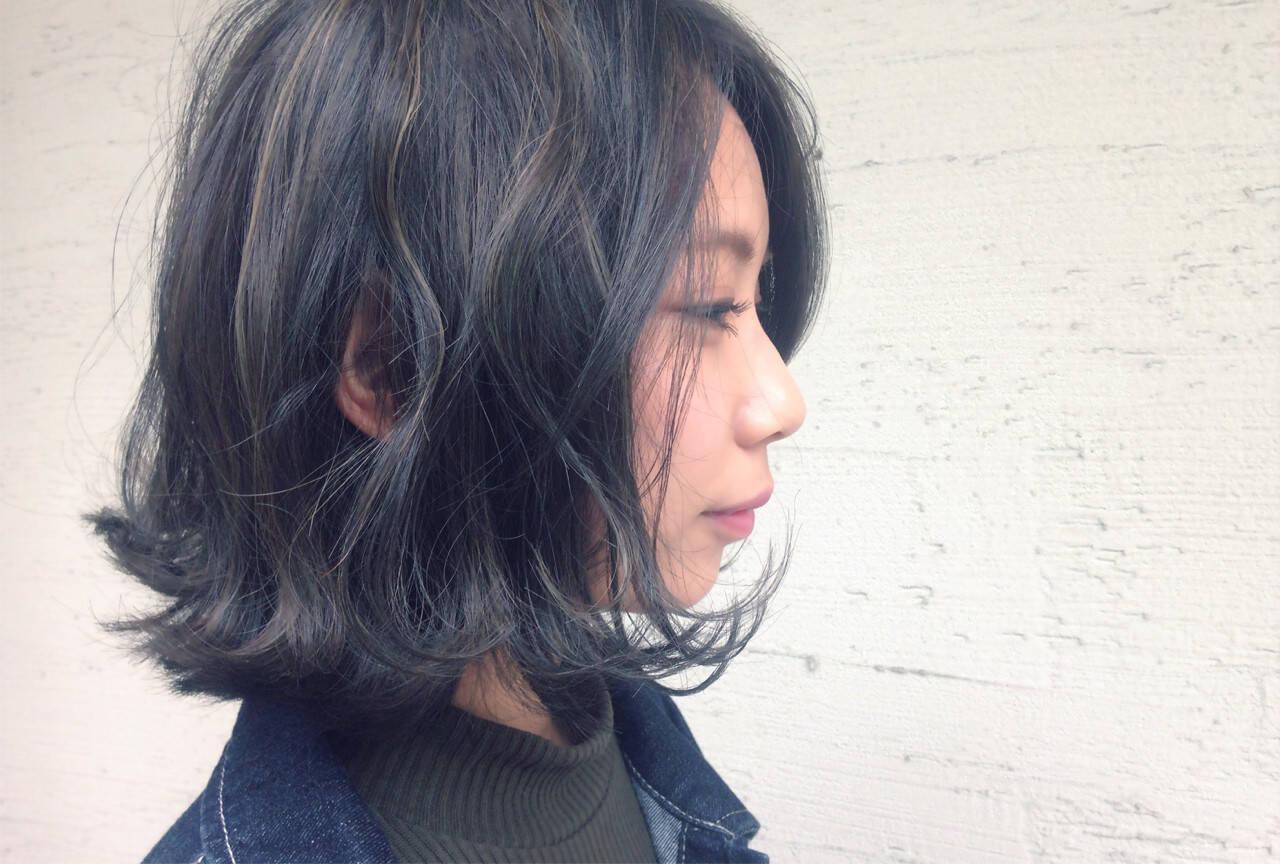 外国人風 パーマ ボブ 色気ヘアスタイルや髪型の写真・画像
