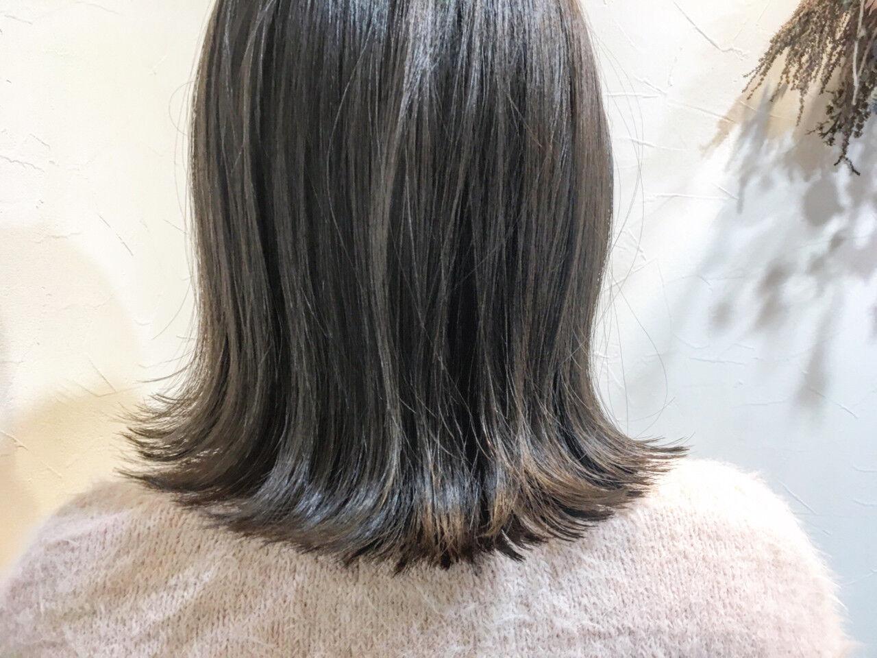 ナチュラル グレージュ 色気 こなれ感ヘアスタイルや髪型の写真・画像