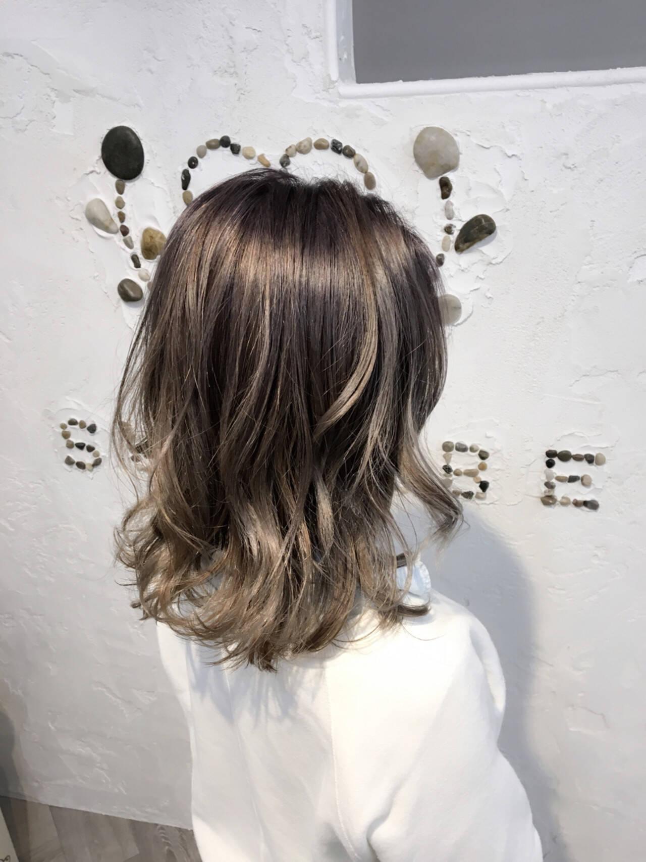 ストリート グラデーションカラー ミディアム 外国人風ヘアスタイルや髪型の写真・画像