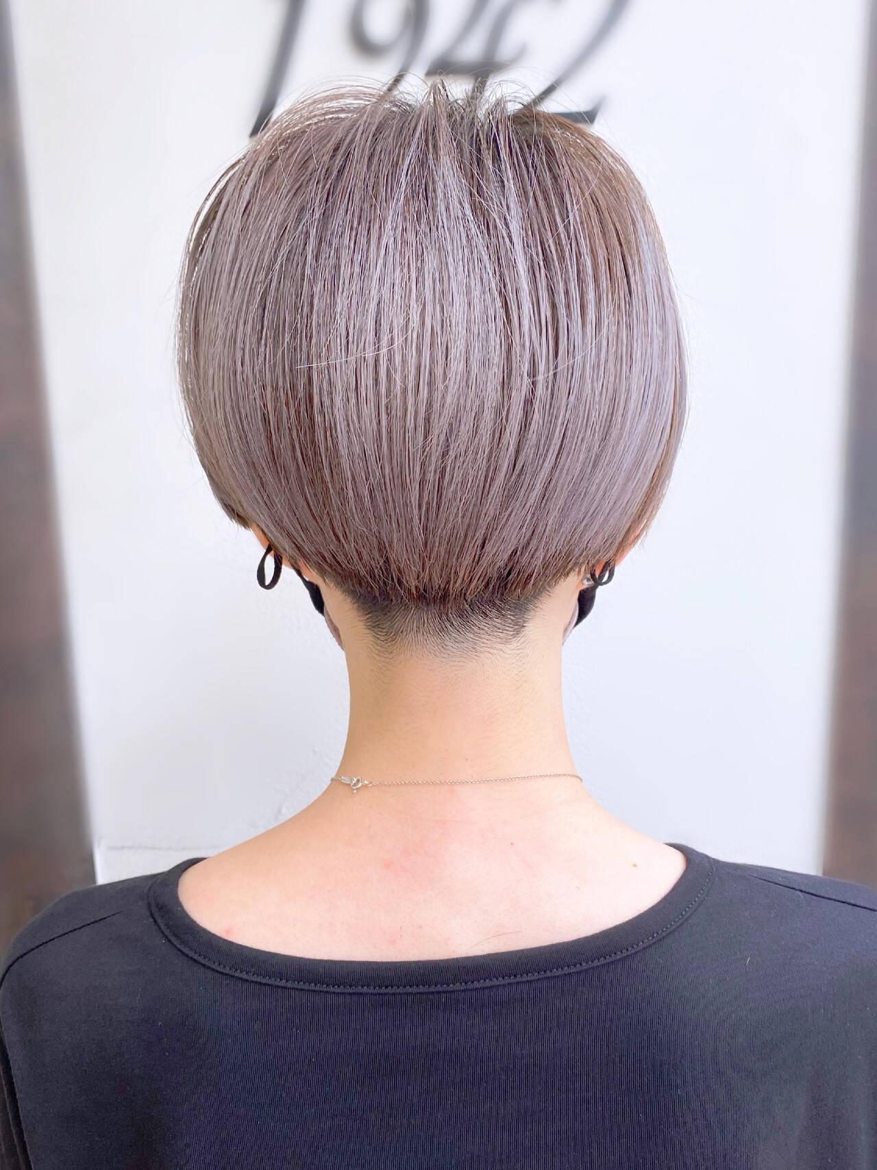 大人かわいい 簡単スタイリング 刈り上げショート ショートヘアヘアスタイルや髪型の写真・画像