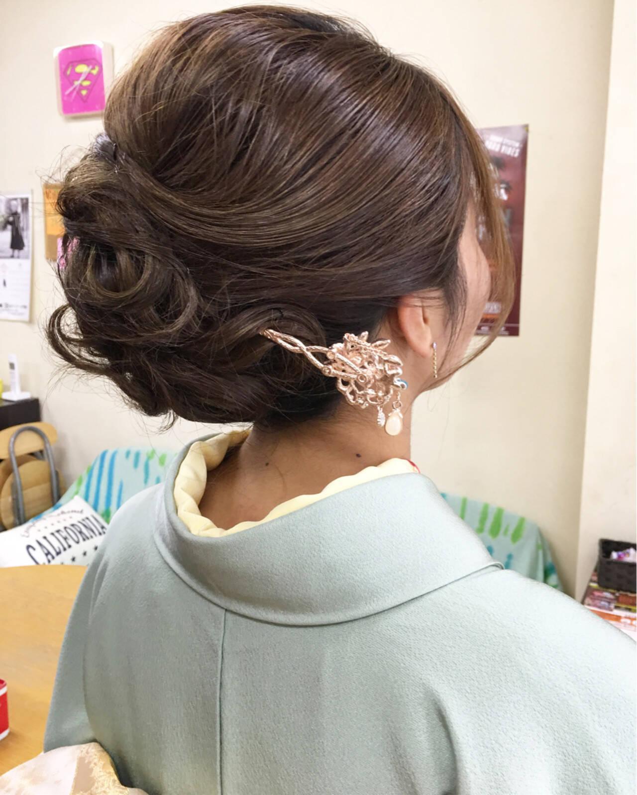 エレガント ヘアアレンジ ロング 上品ヘアスタイルや髪型の写真・画像