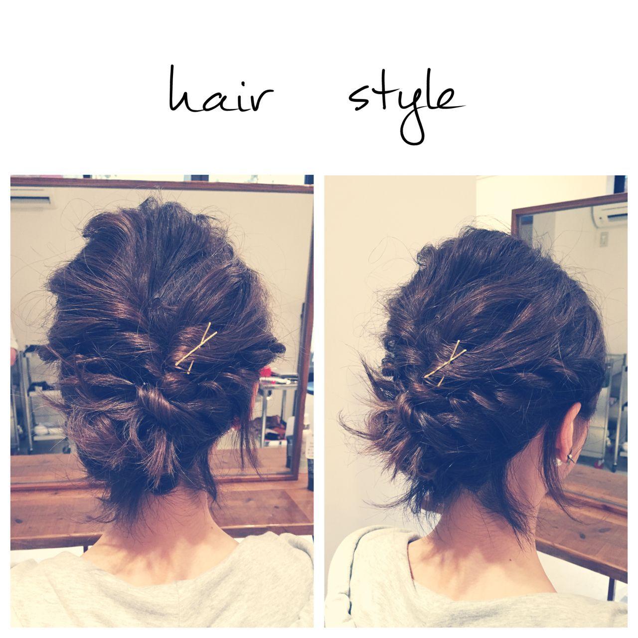 ストリート 簡単ヘアアレンジ ヘアアクセ ショートヘアスタイルや髪型の写真・画像