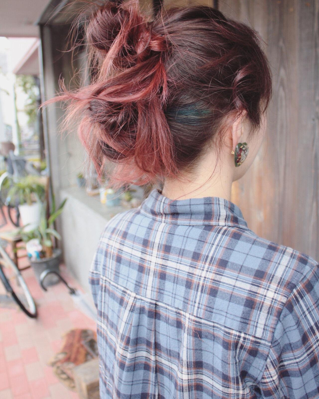 ヘアアレンジ スポーツ セミロング ストリートヘアスタイルや髪型の写真・画像