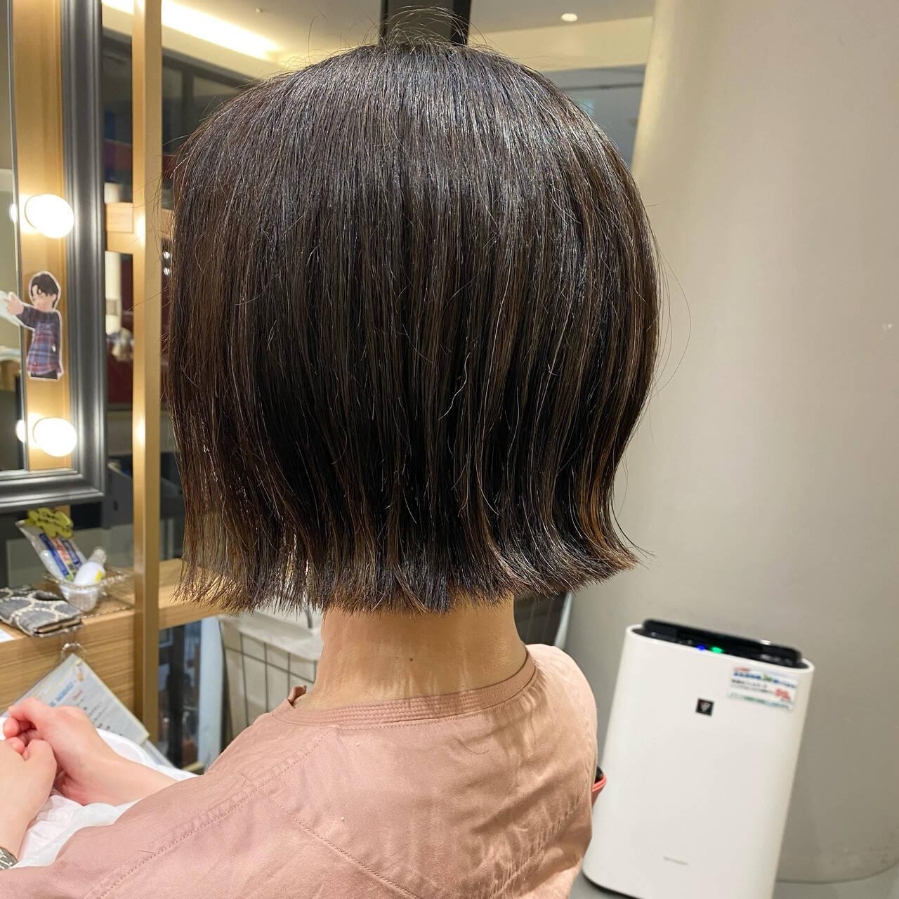 外ハネ 外ハネボブ ミニボブ ボブヘアスタイルや髪型の写真・画像