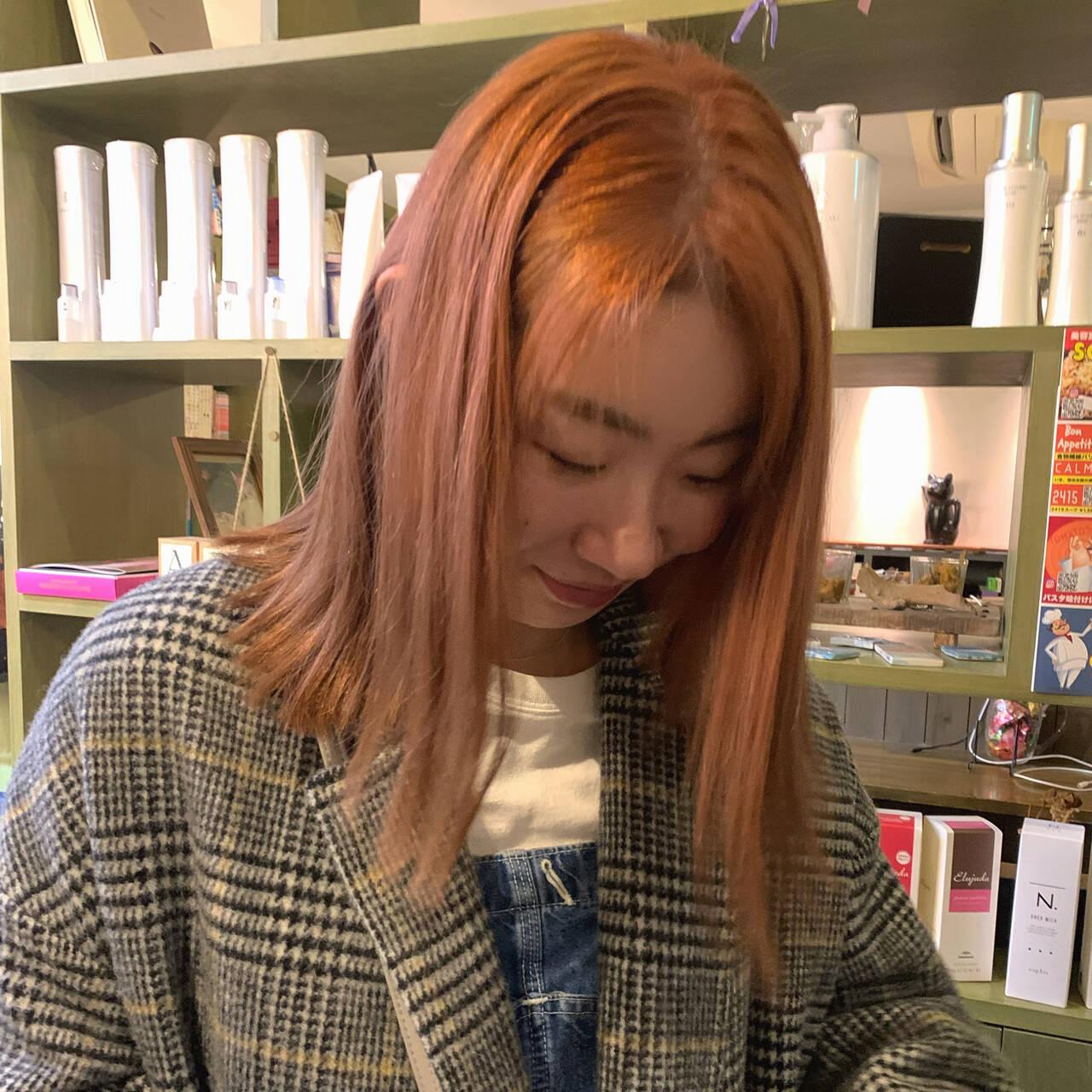 ピンクパープル ピンク ラベンダーピンク ピンクアッシュヘアスタイルや髪型の写真・画像