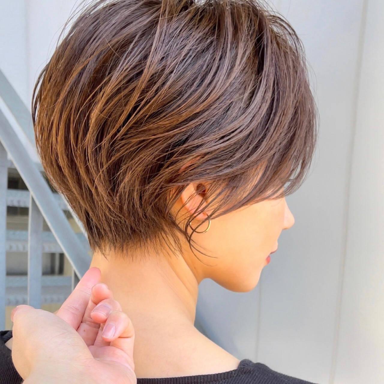 ショートカット ショートヘア ハンサムショート ショートボブヘアスタイルや髪型の写真・画像