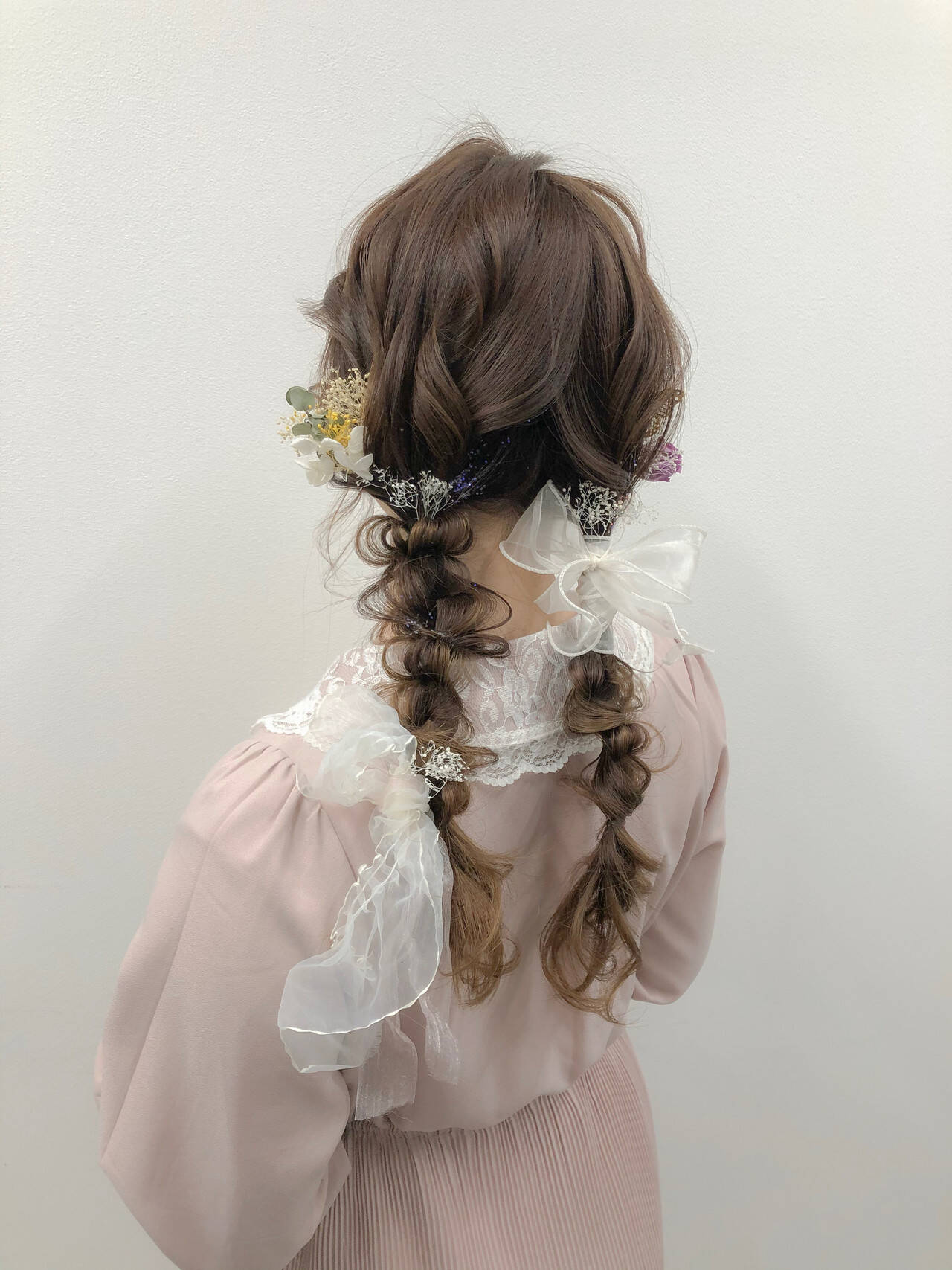 編みおろし ロング 編みおろしツイン ヘアアレンジヘアスタイルや髪型の写真・画像
