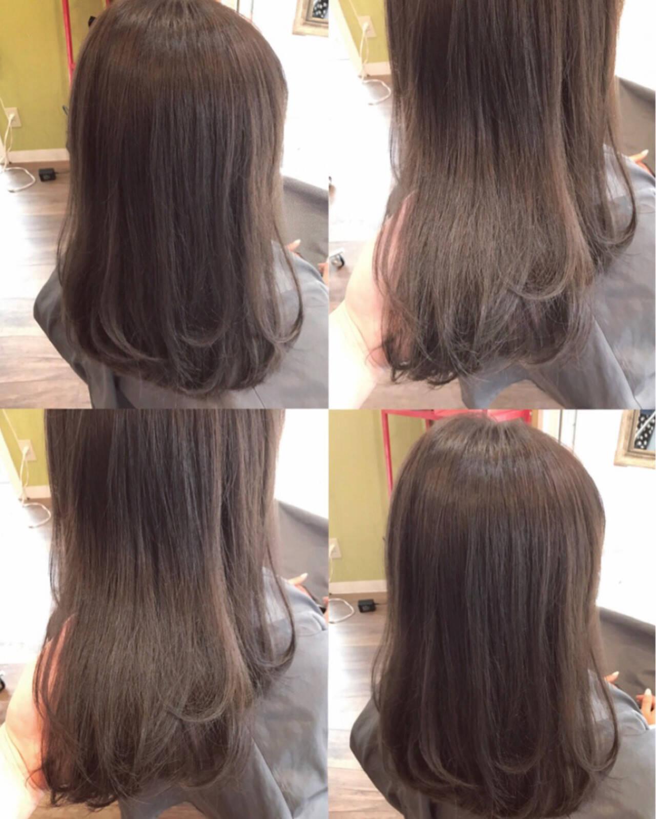 ラベンダーアッシュ 透明感 巻き髪 ナチュラルヘアスタイルや髪型の写真・画像