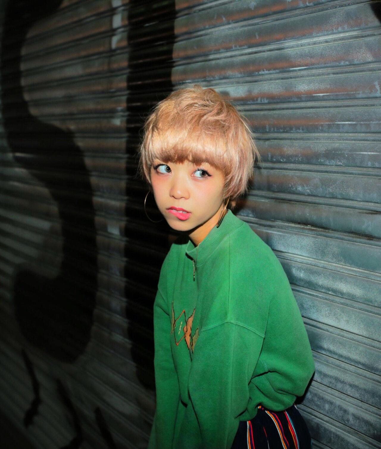 色気 ストリート ショート 前髪ありヘアスタイルや髪型の写真・画像