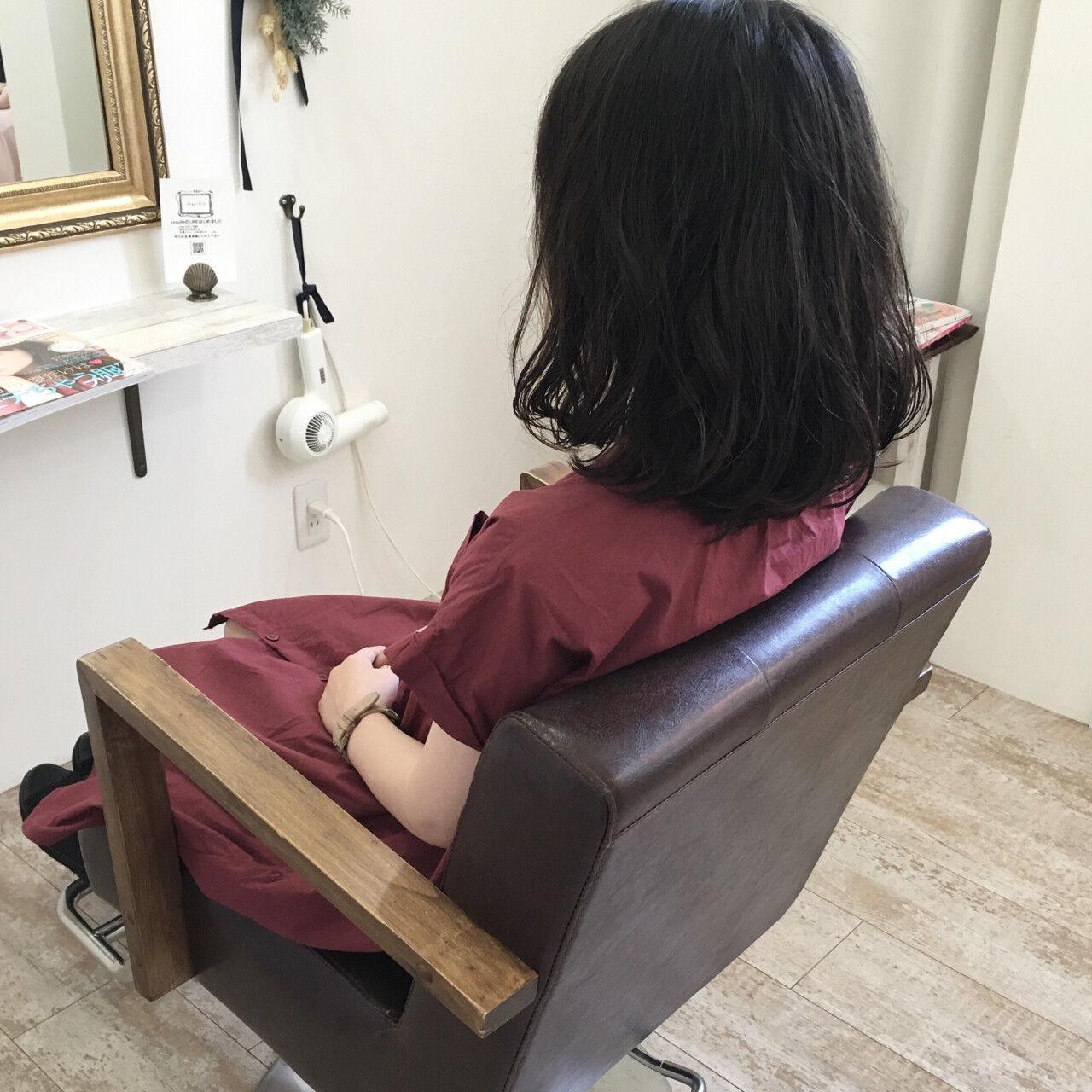 リラックス ゆるふわ ナチュラル 秋ヘアスタイルや髪型の写真・画像